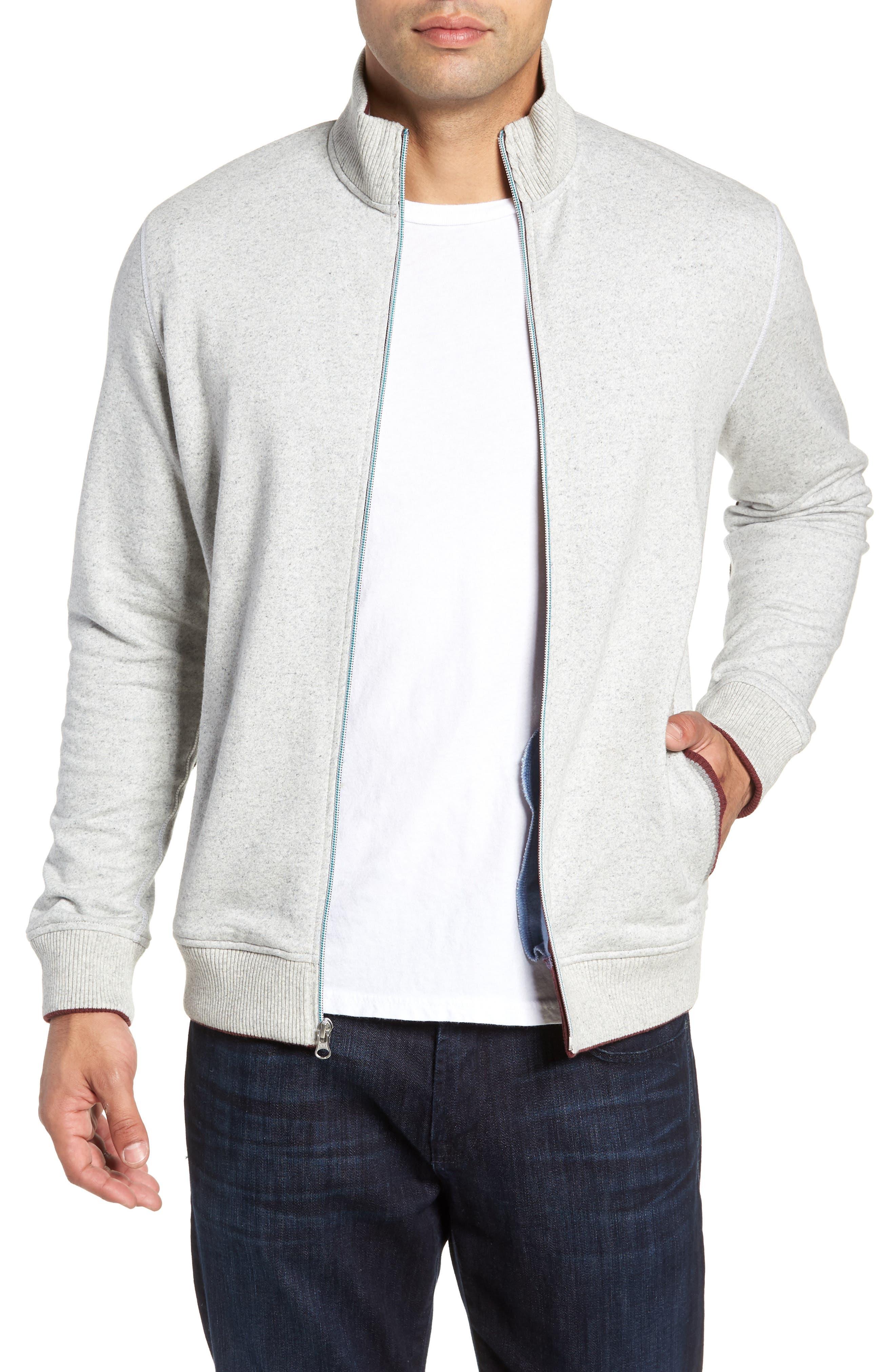 Knowles Zip Sweatshirt,                         Main,                         color, HEATHER LIGHT GREY