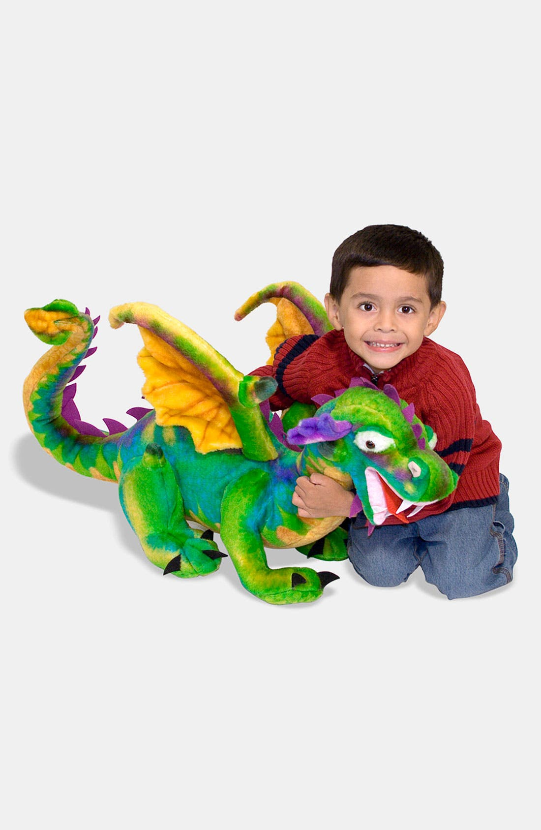 Oversized Plush Stuffed Dragon,                         Main,                         color, VARIOUS