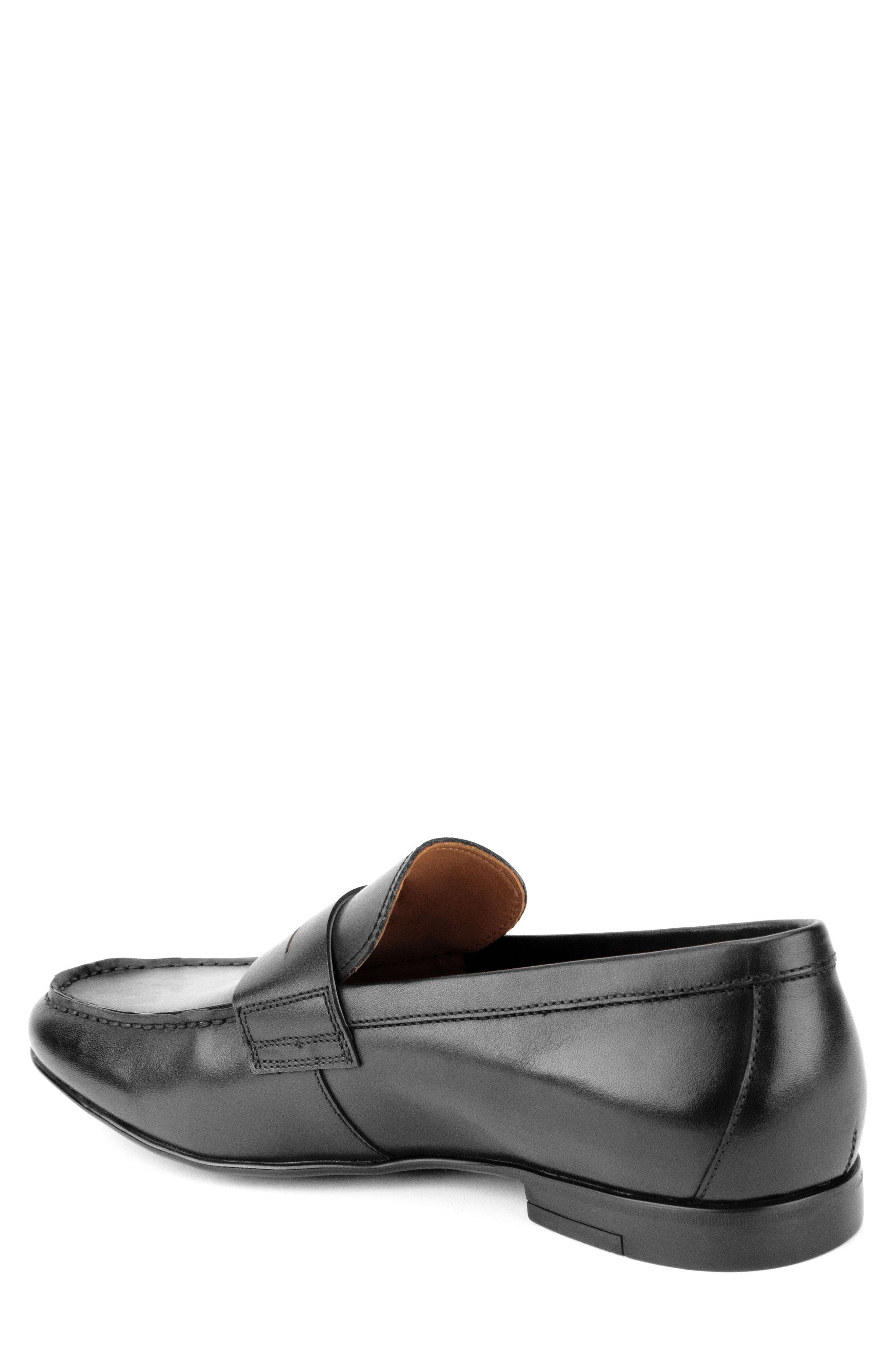 Connery Penny Loafer,                             Alternate thumbnail 2, color,                             BLACK LEATHER