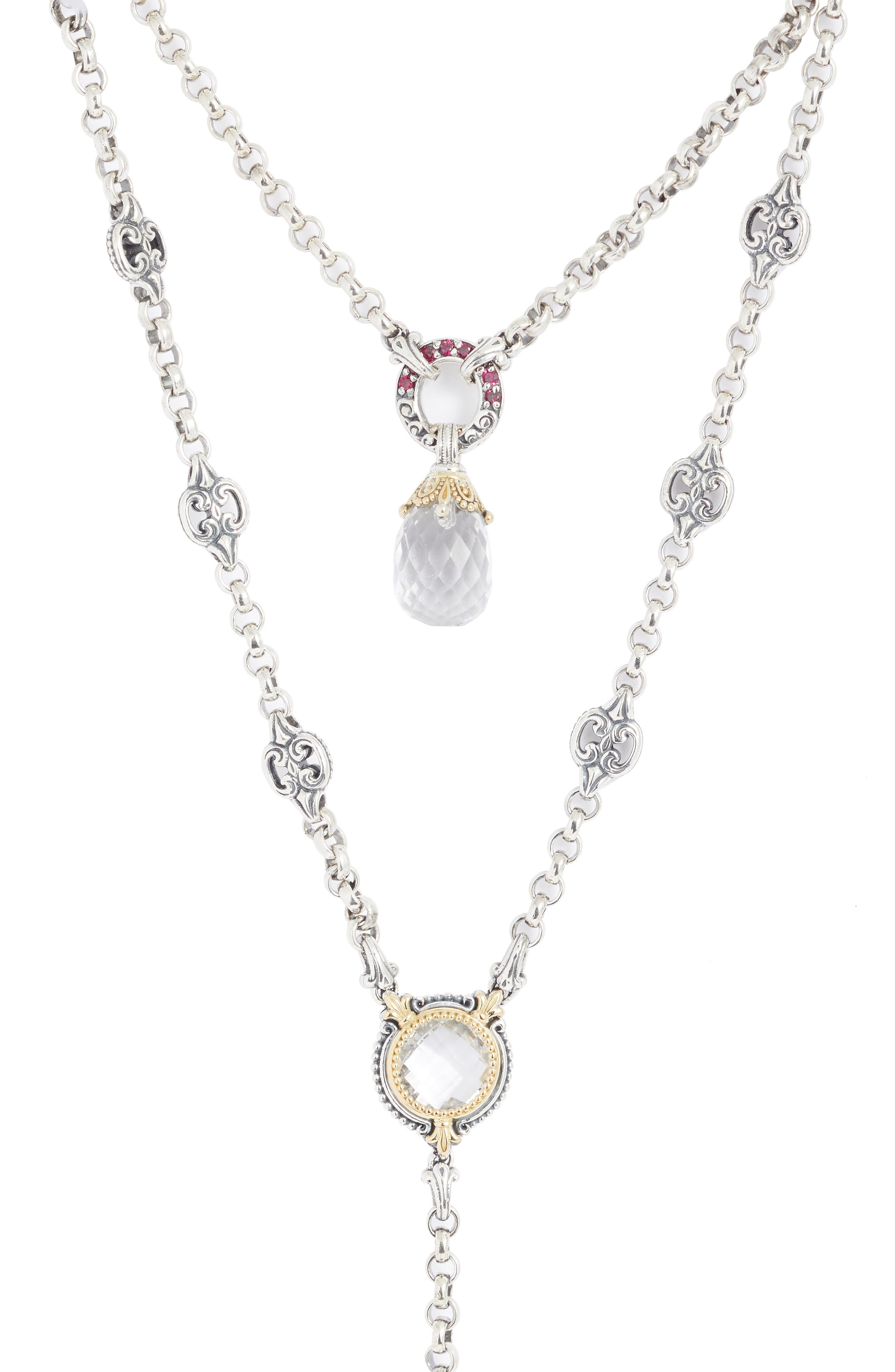 Pythia Crystal Y-Necklace,                             Alternate thumbnail 2, color,                             SILVER/ CRYSTAL