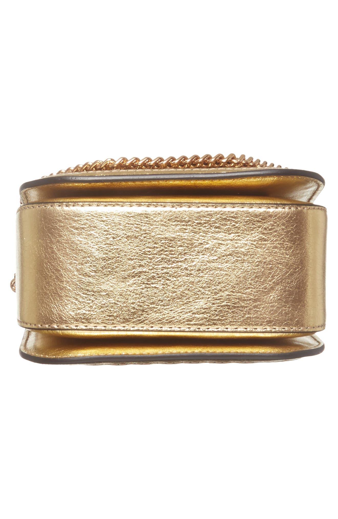 Falabella Box Woven Metallic Faux Leather Shoulder Bag,                             Alternate thumbnail 6, color,