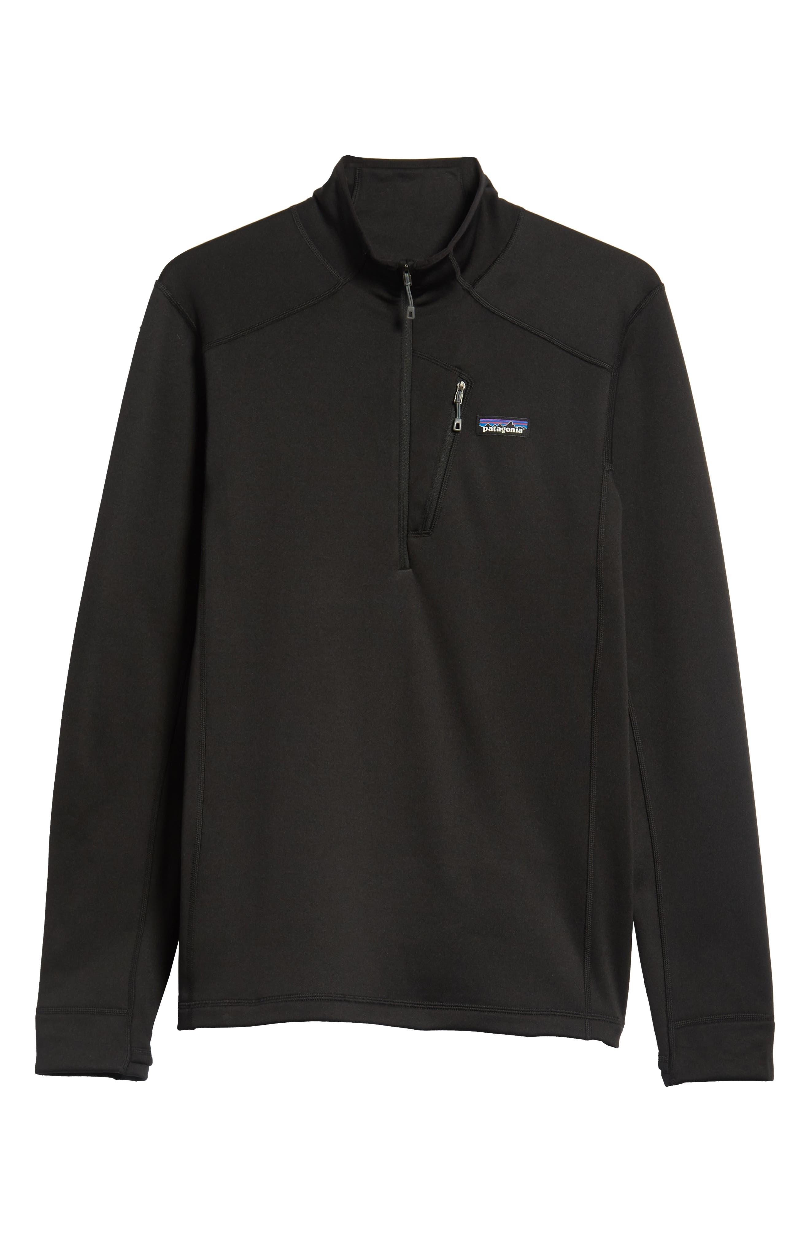 Crosstrek Quarter Zip Fleece Pullover,                             Alternate thumbnail 6, color,                             BLACK