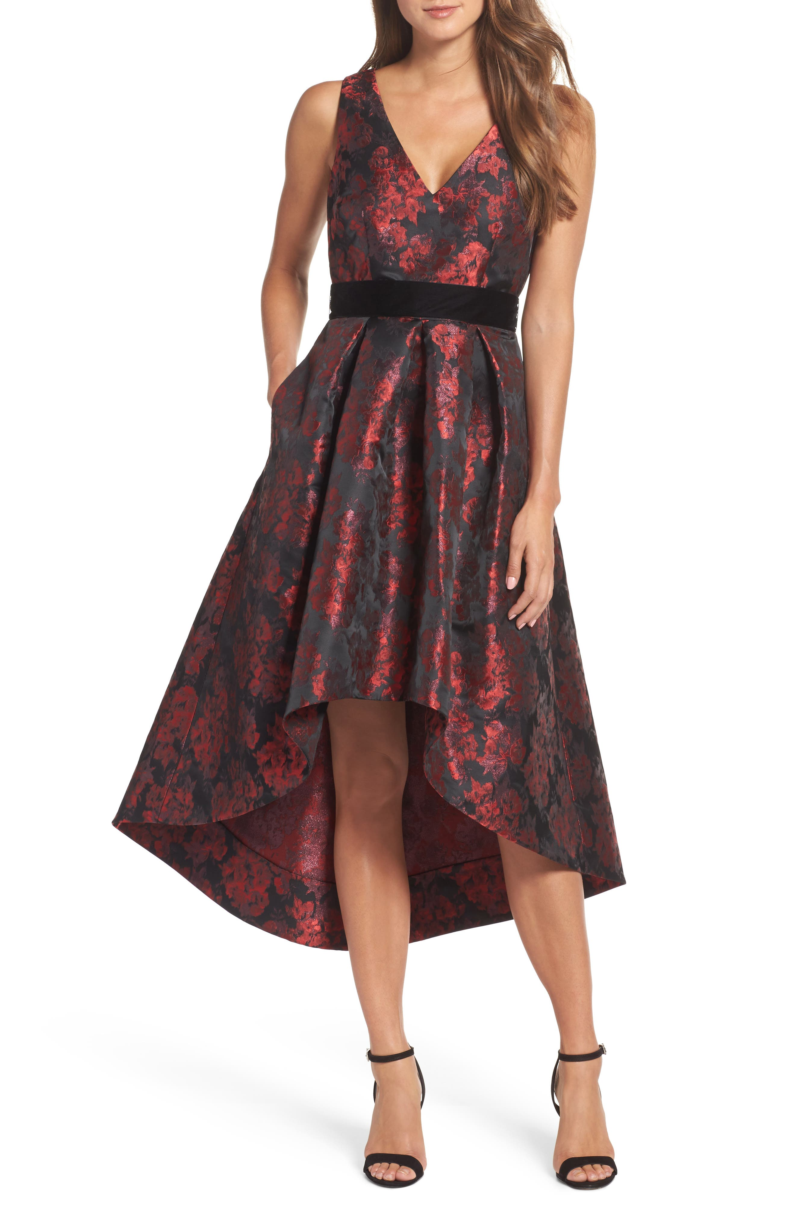 Jacquard High/Low Dress,                             Main thumbnail 1, color,