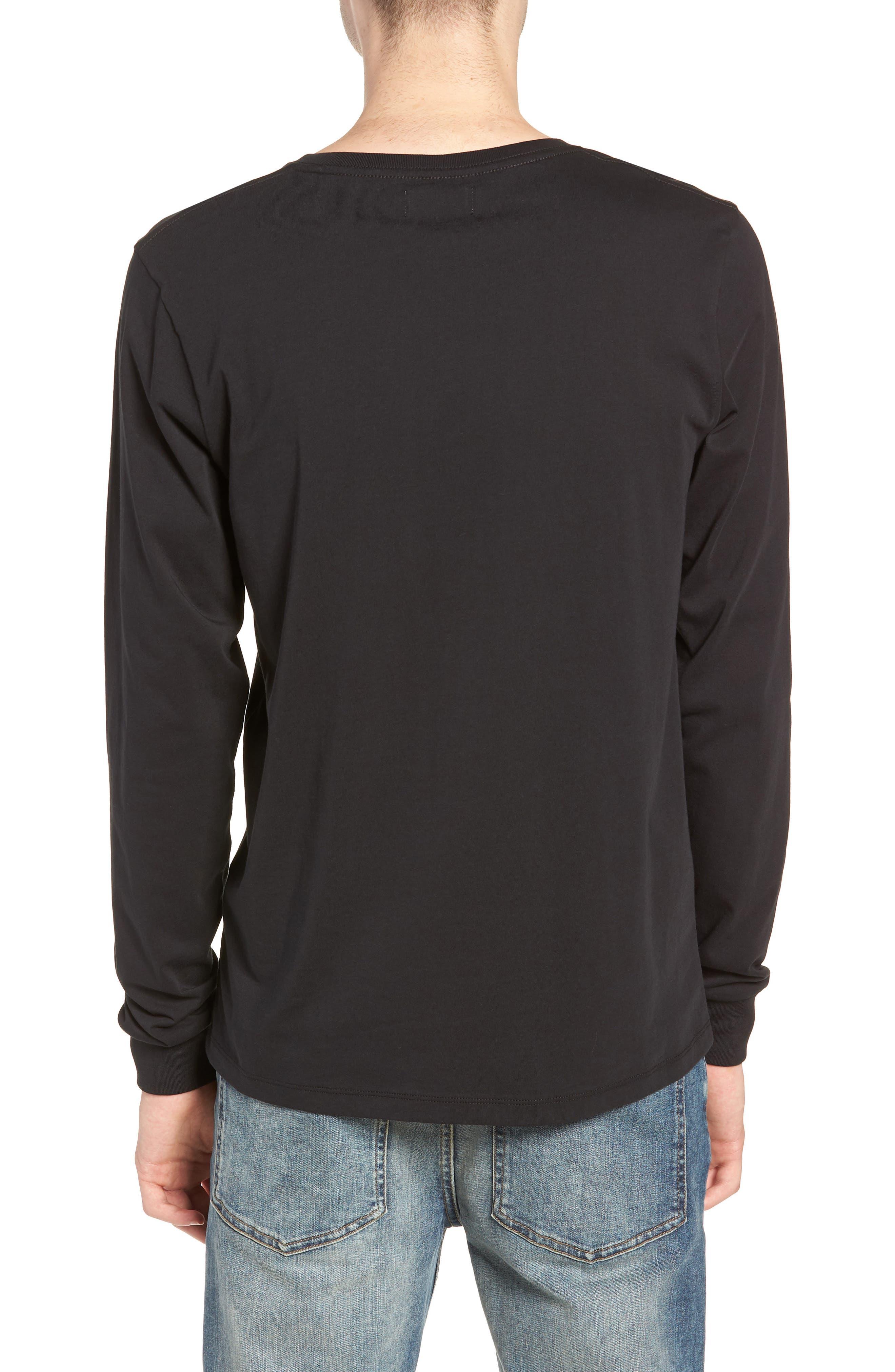 Saturdays Graphic Long Sleeve T-Shirt,                             Alternate thumbnail 2, color,                             BLACK