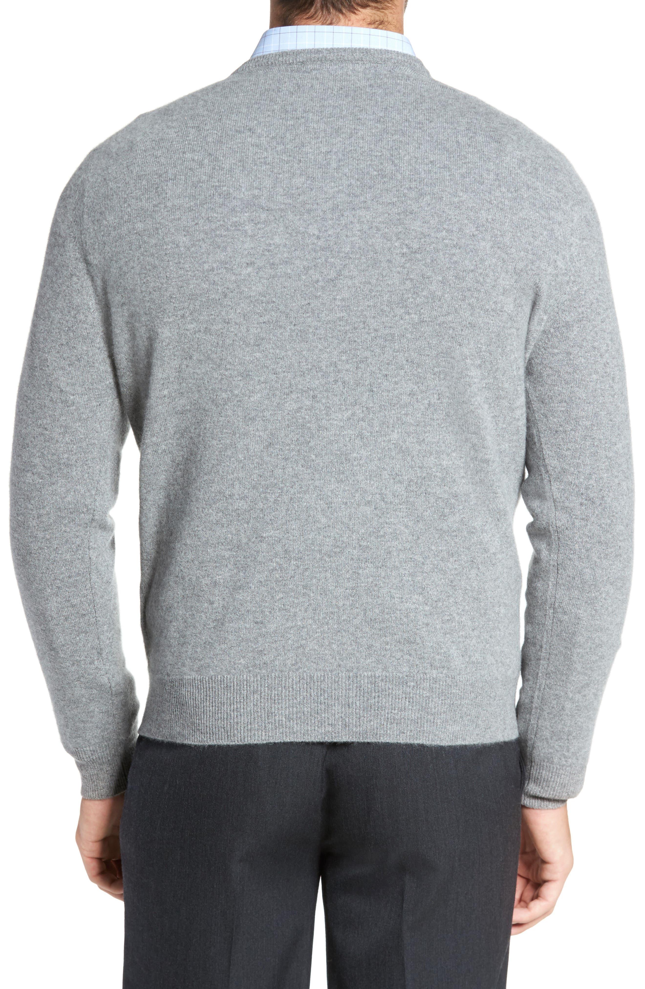Cashmere V-Neck Sweater,                             Alternate thumbnail 8, color,