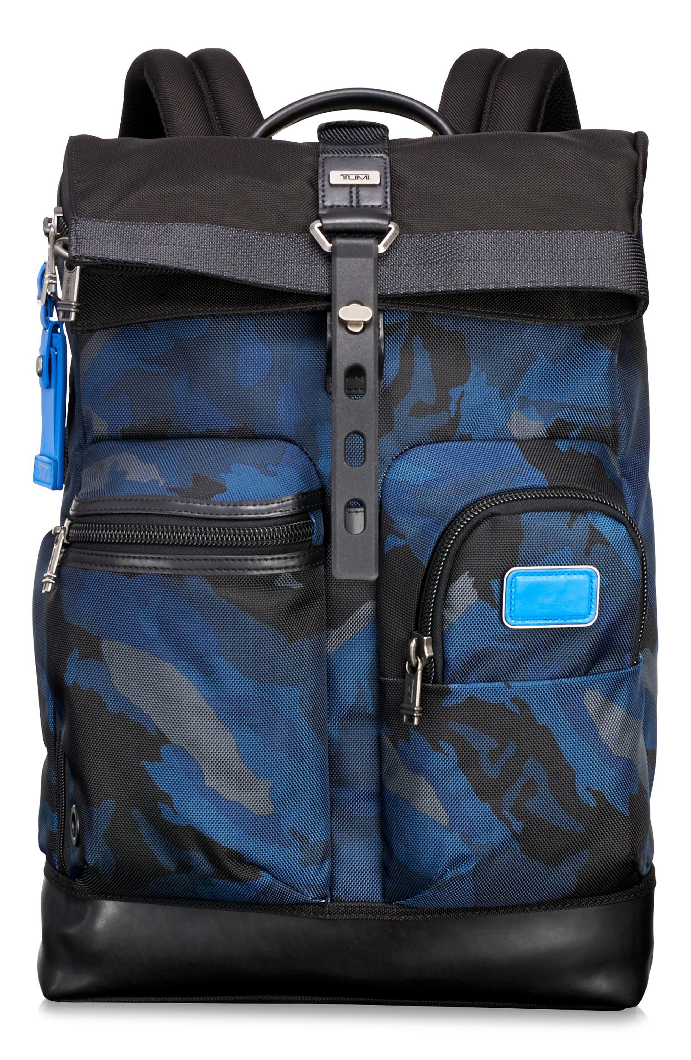 TUMI Alpha Bravo Luke Roll Top Backpack, Main, color, 429