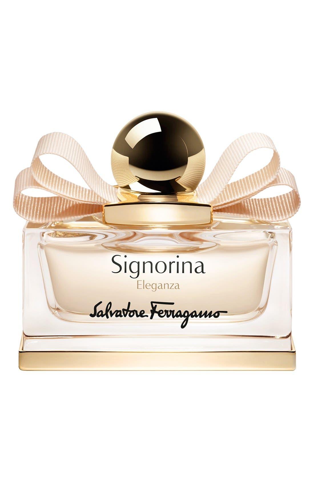 SALVATORE FERRAGAMO,                             'Signorina Eleganza' Eau de Parfum,                             Main thumbnail 1, color,                             000