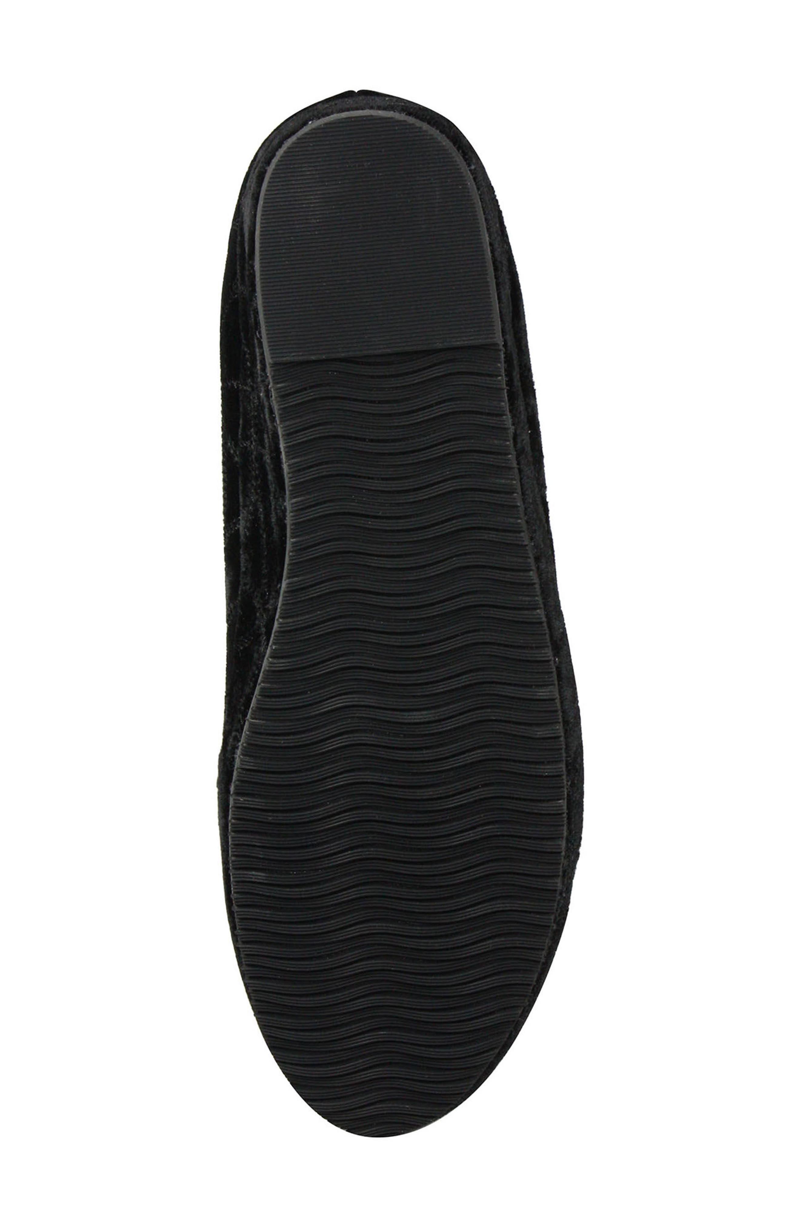 Carsoli Wedge Loafer,                             Alternate thumbnail 4, color,                             BLACK VELVET