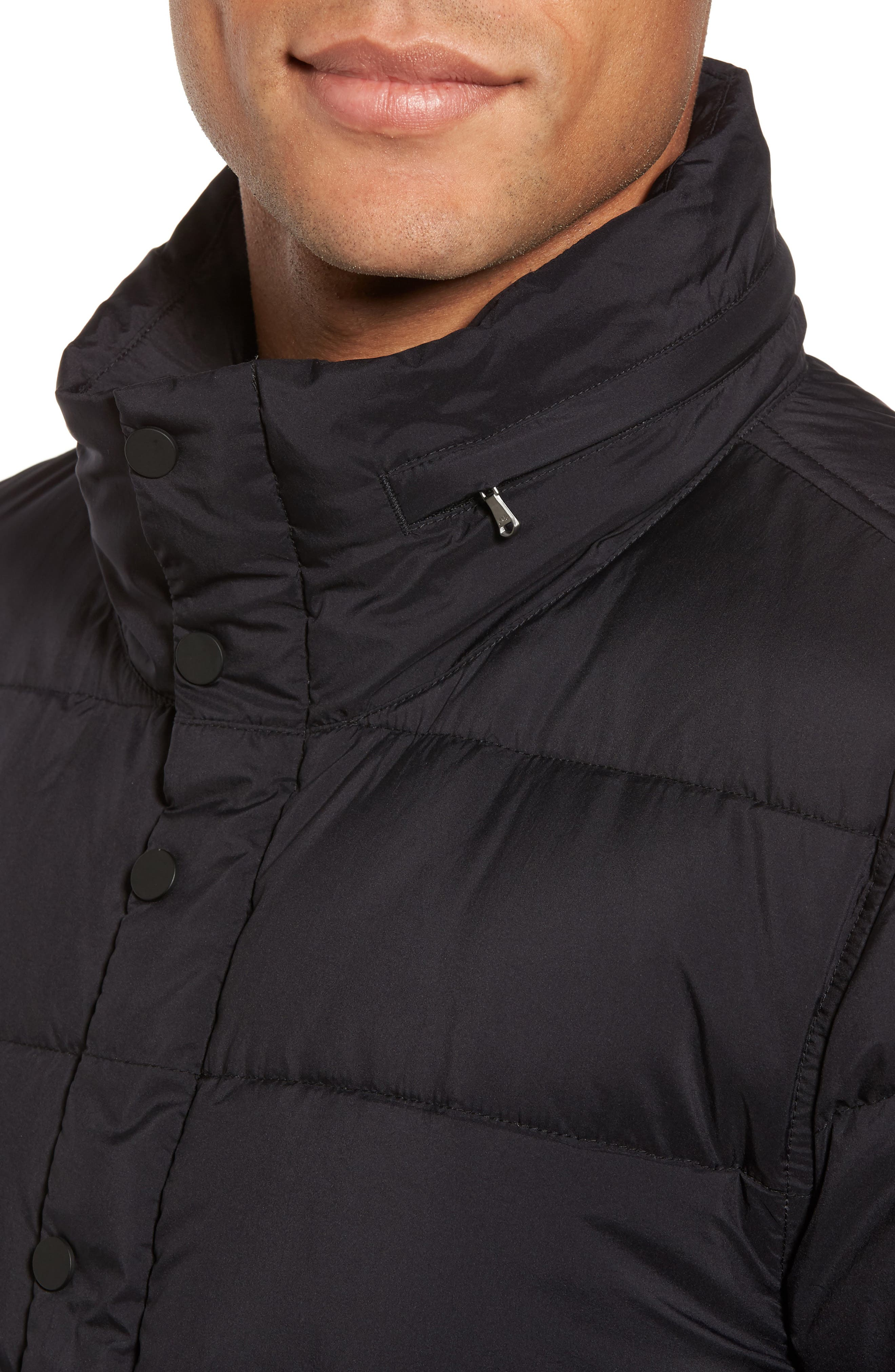 Quilted Down Jacket,                             Alternate thumbnail 4, color,                             001