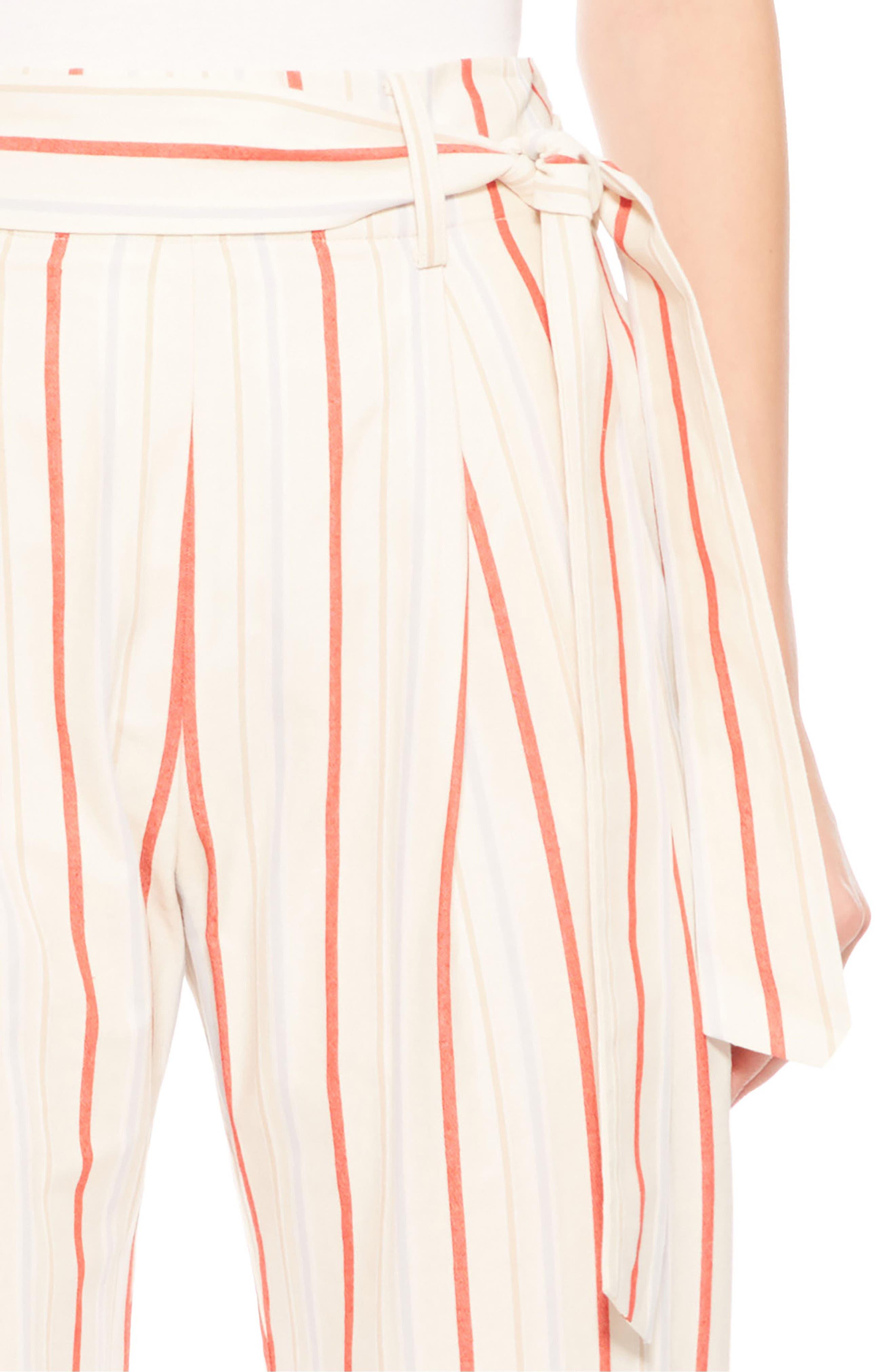 Ramsey Stripe Cotton Twill Pants,                             Alternate thumbnail 4, color,