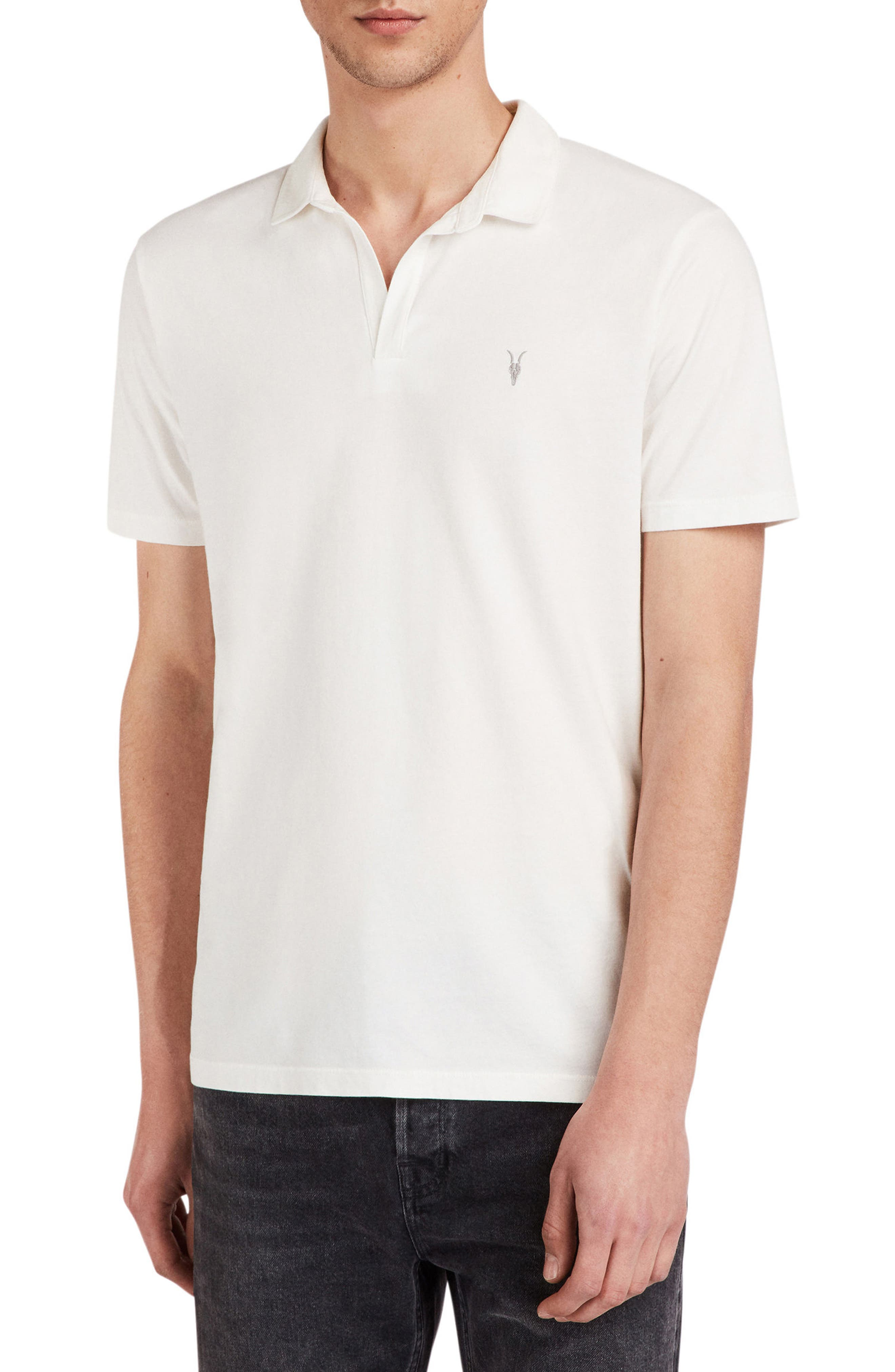 Ossage Slim Fit Polo,                             Main thumbnail 1, color,                             CHALK WHITE