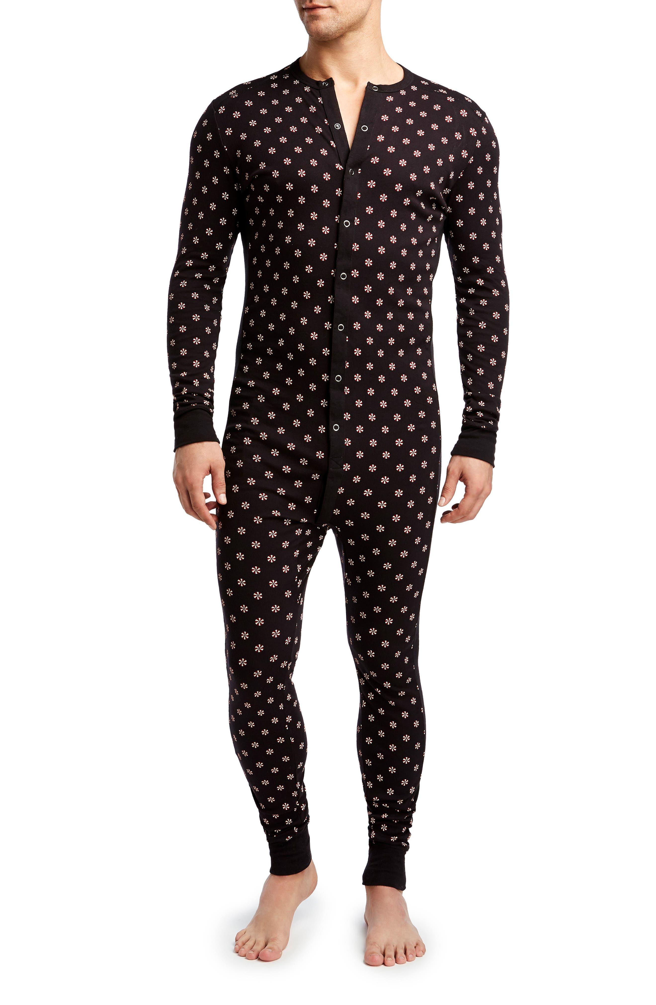 Union Suit,                         Main,                         color, CANDY PRINT BLACK