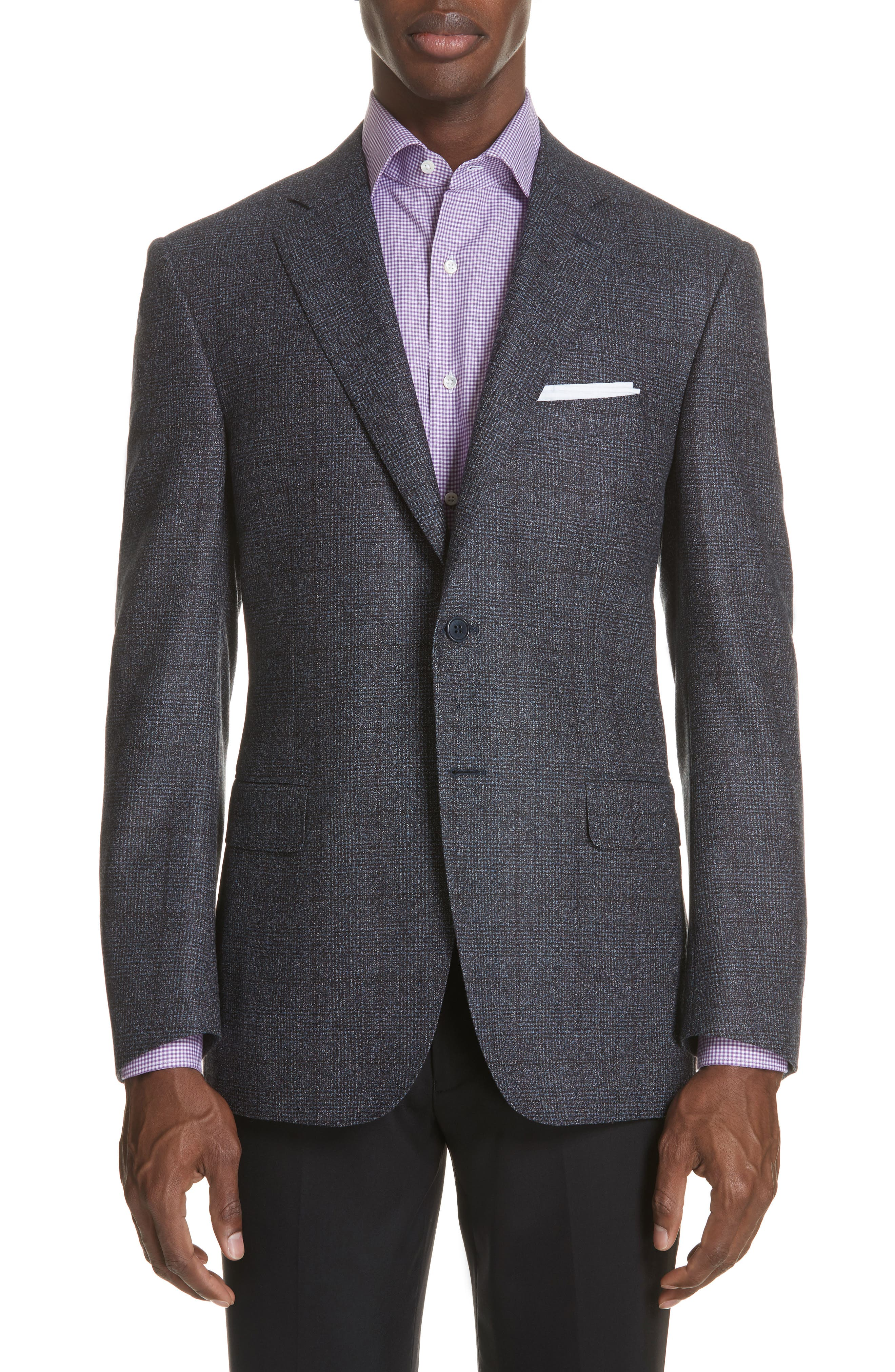 Classic Fit Plaid Wool Sport Coat,                         Main,                         color, 020
