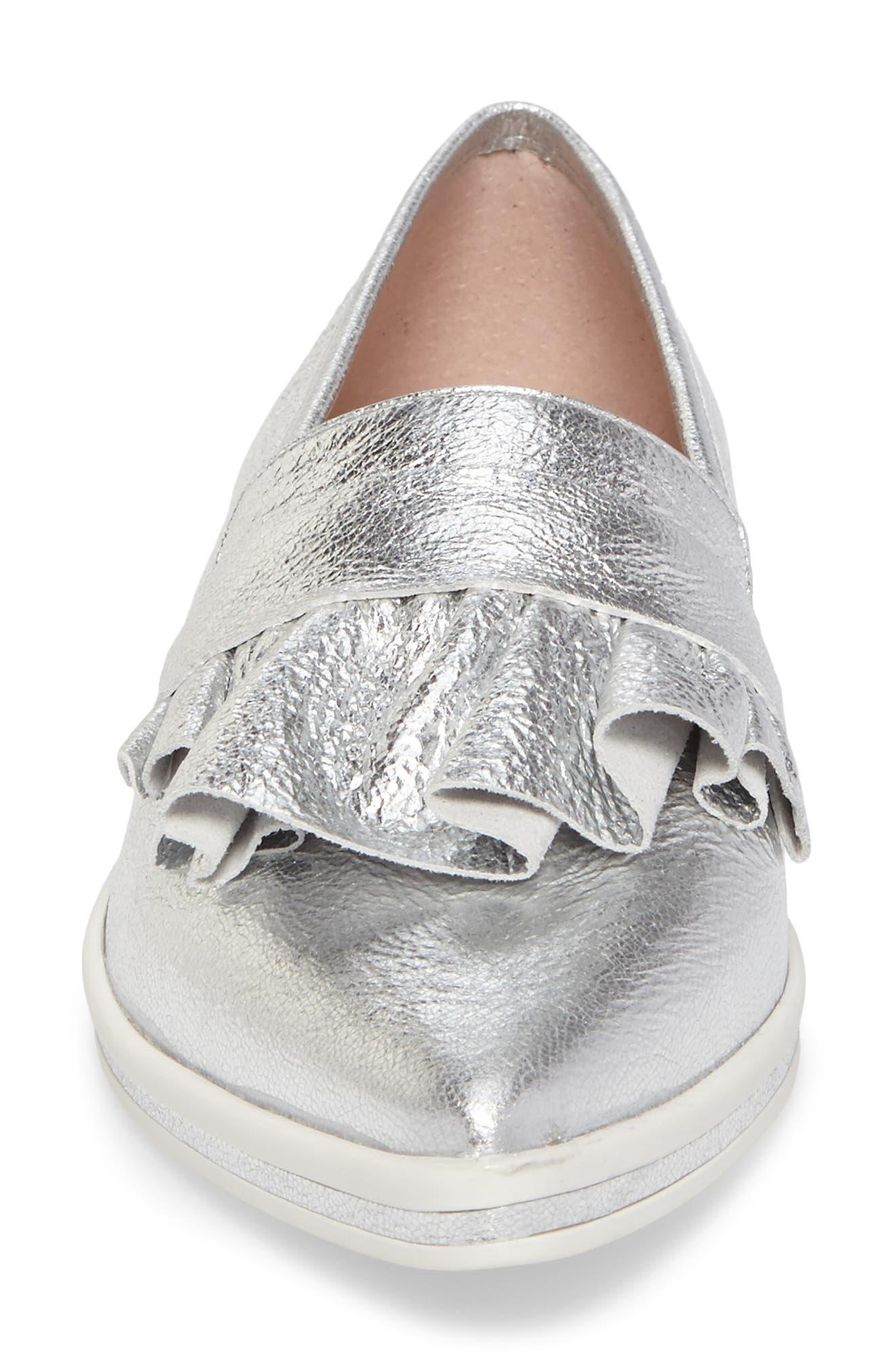 Taraji Ruffle Slip-On Sneaker,                             Alternate thumbnail 14, color,