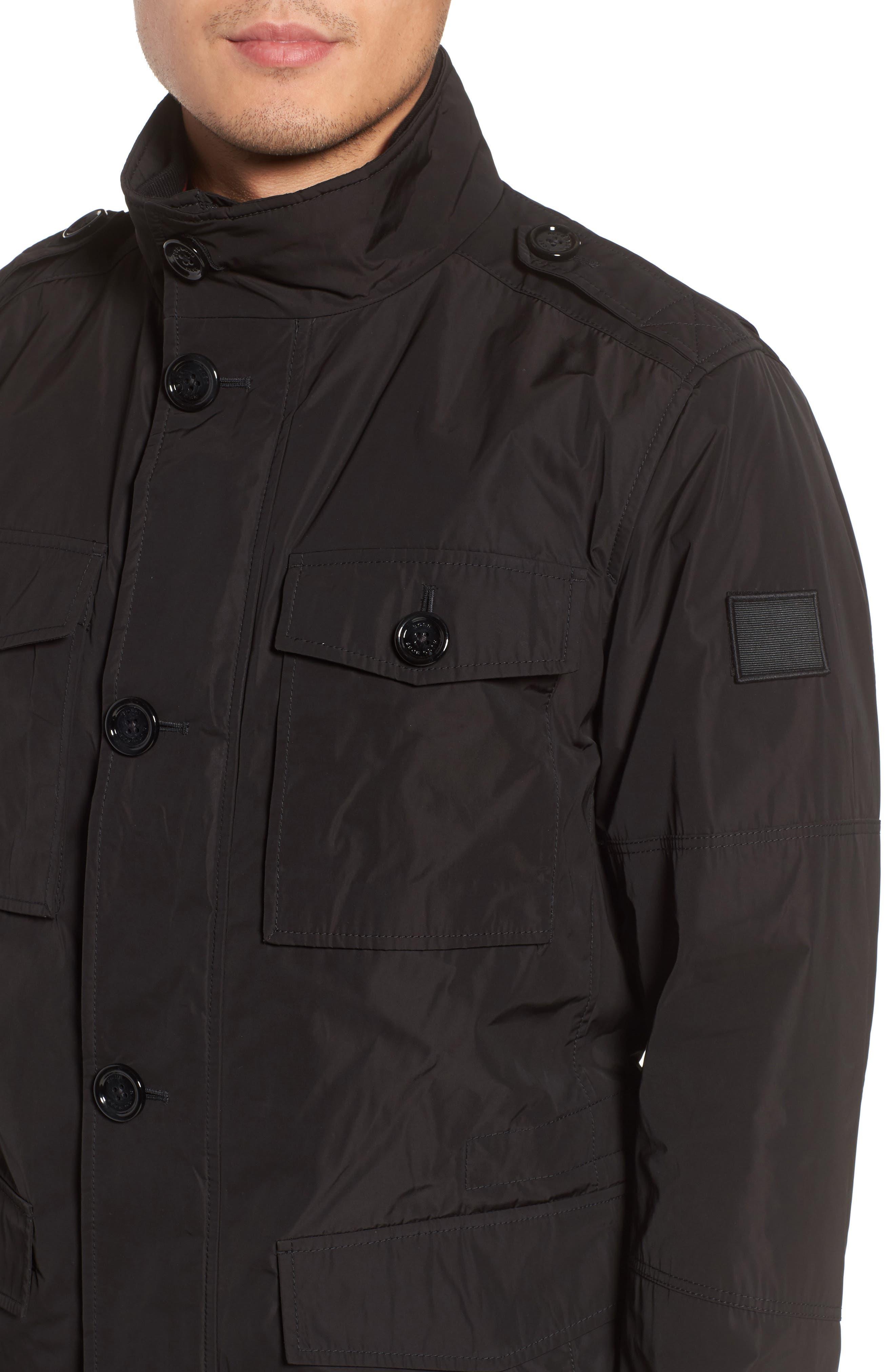 BOSS,                             Camino Regular Fit Field Jacket,                             Alternate thumbnail 4, color,                             001