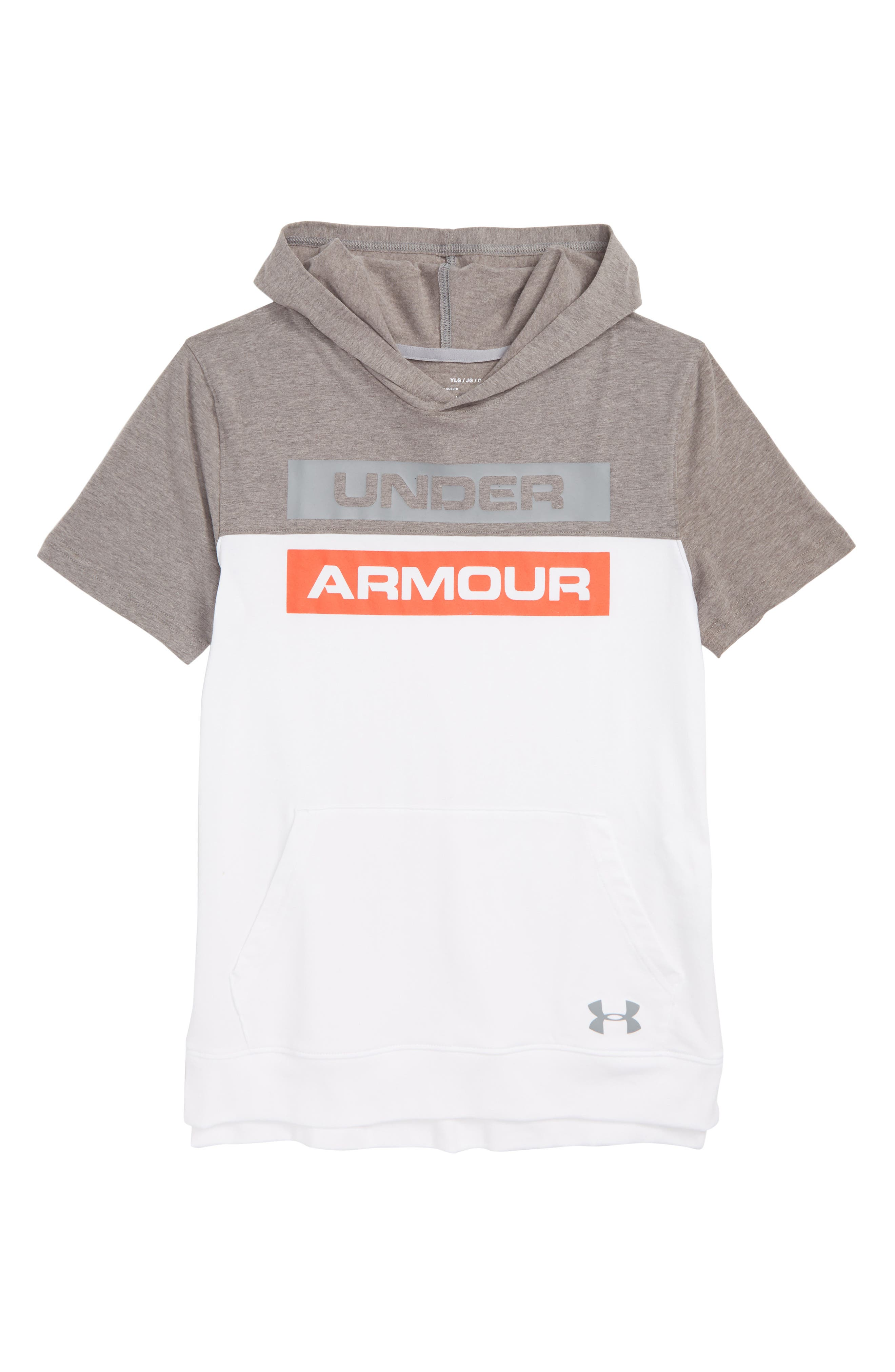 Sportstyle Charged Cotton<sup>®</sup> Hoodie,                         Main,                         color, WHITE STEEL