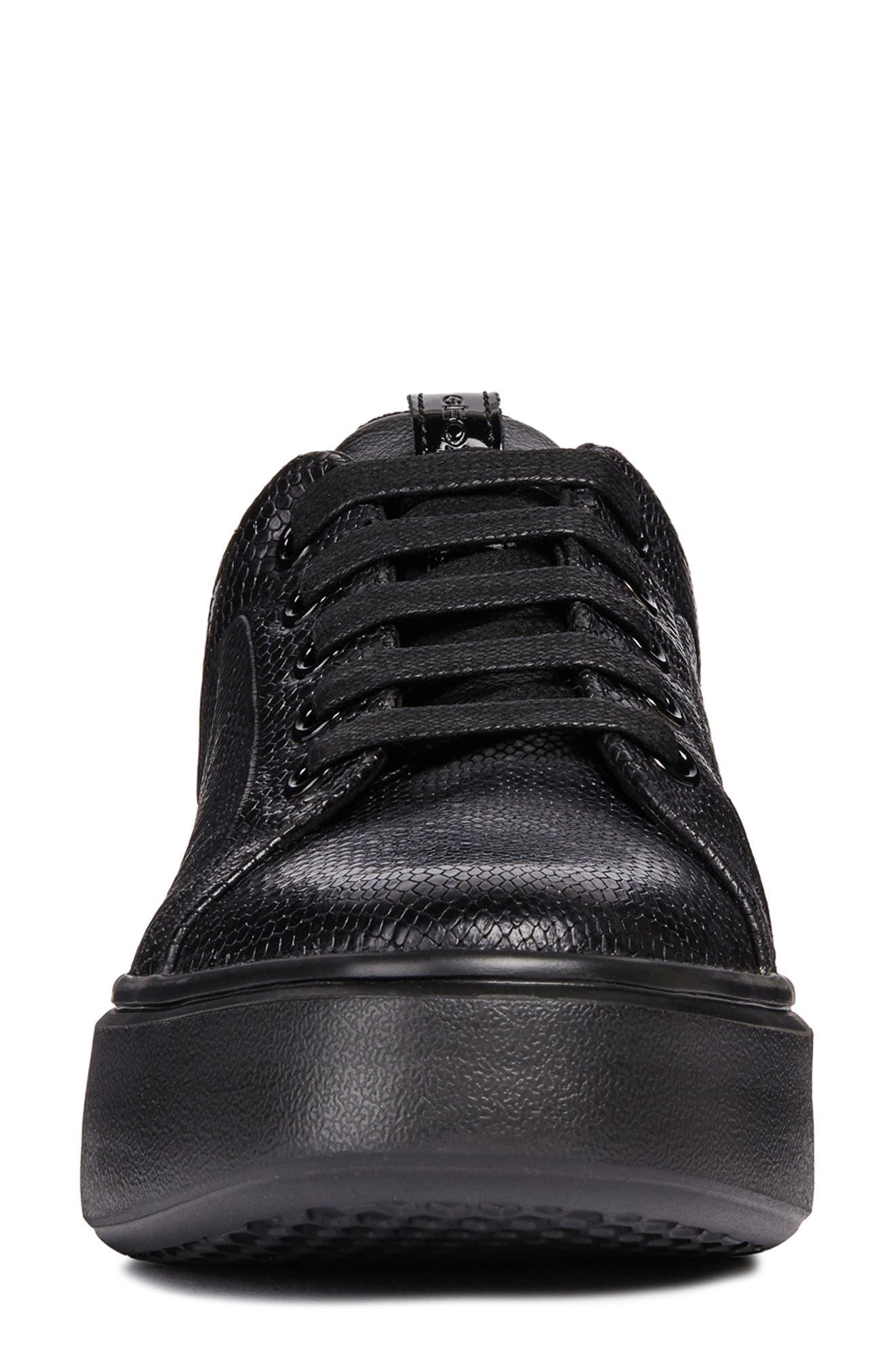 Nhenbus Sneaker,                             Alternate thumbnail 4, color,                             BLACK LEATHER