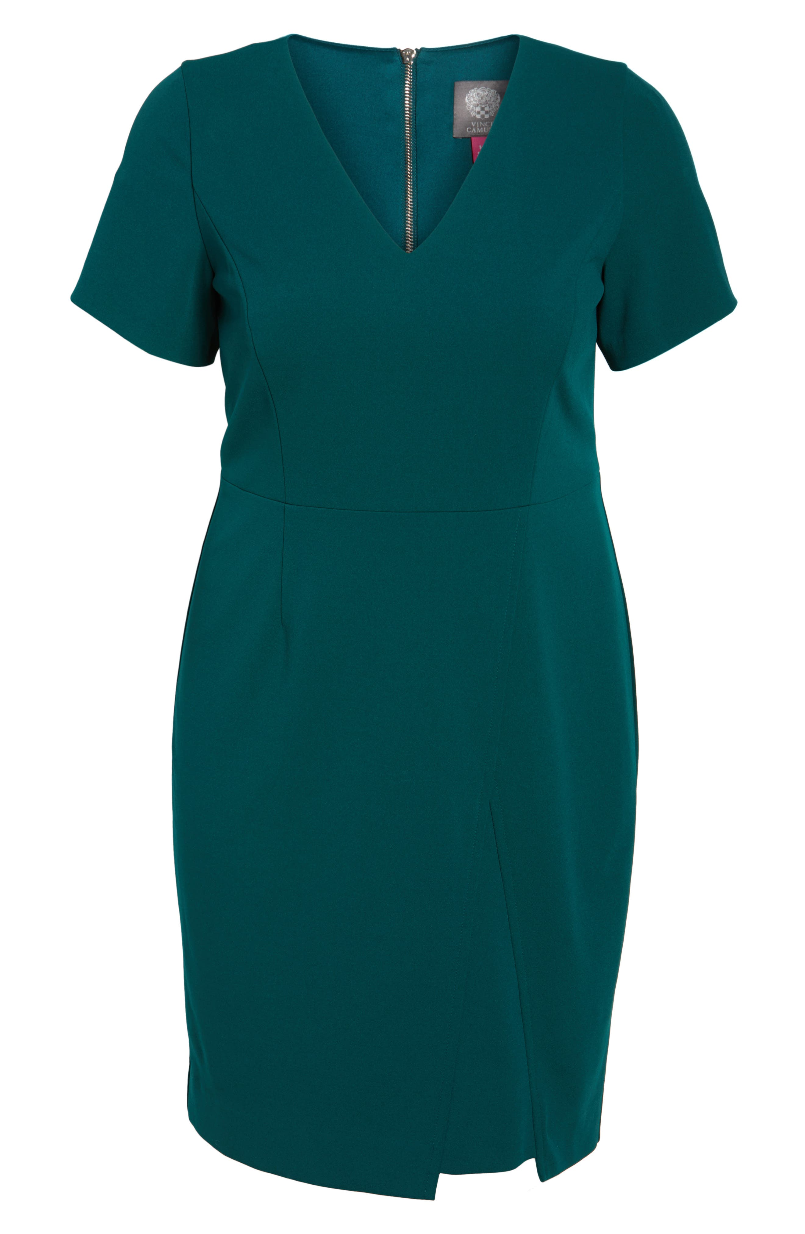 Scuba Crepe Sheath Dress,                             Alternate thumbnail 6, color,                             389
