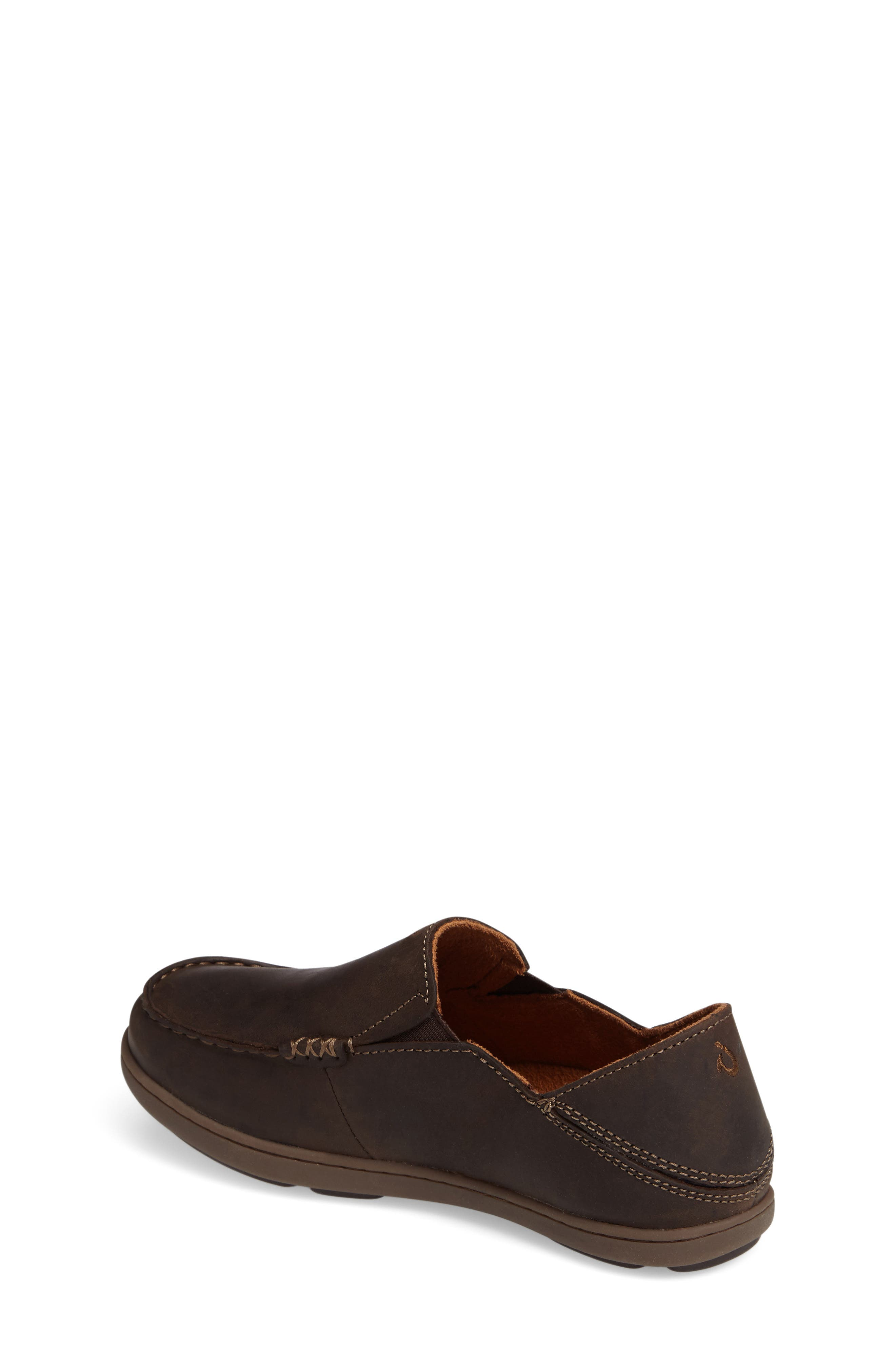 'Moloa' Water Resistant Slip-On,                             Alternate thumbnail 2, color,                             DARK WOOD/ MUSTANG