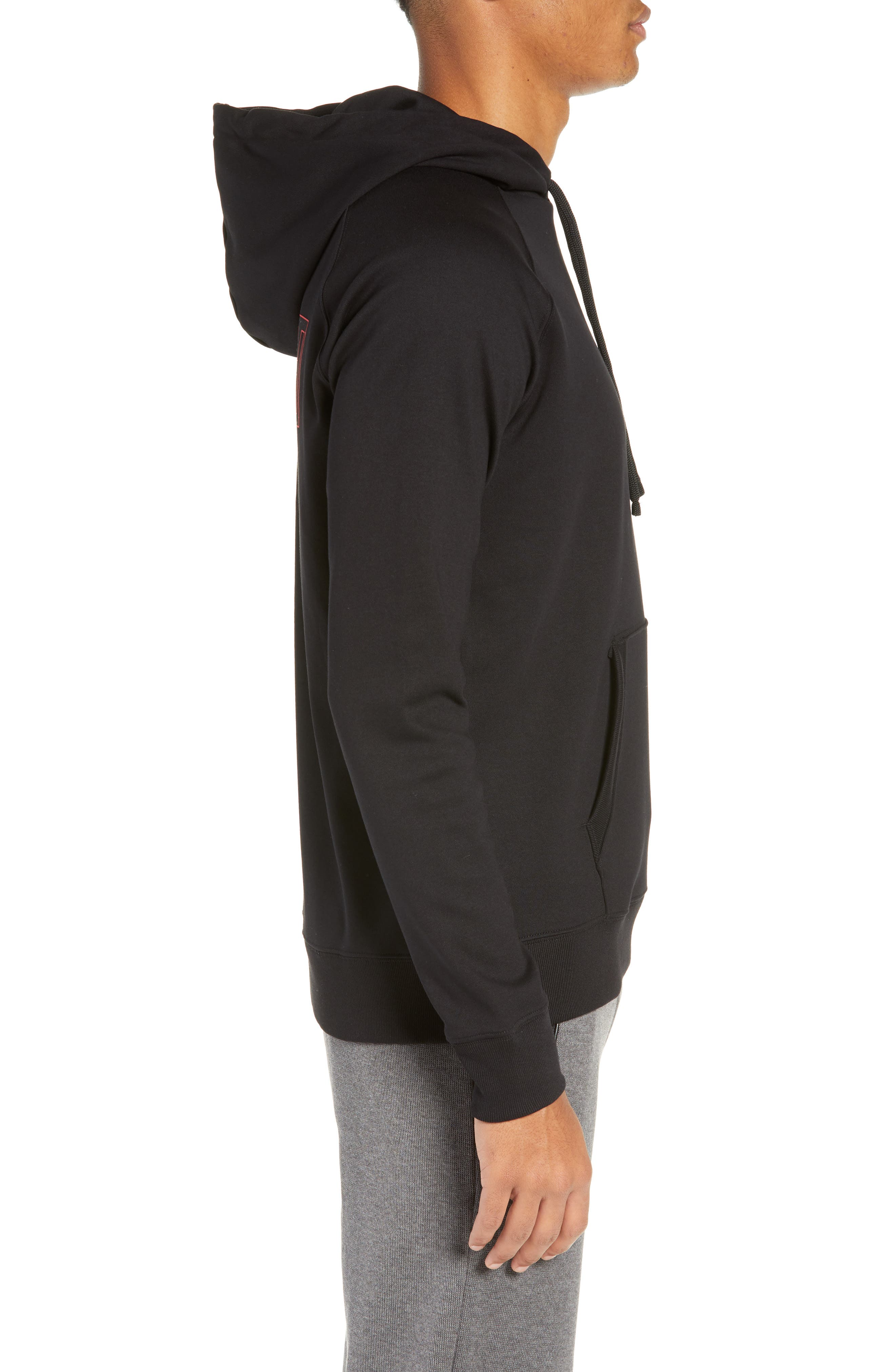 Darti Hoodie Sweatshirt,                             Alternate thumbnail 3, color,                             001