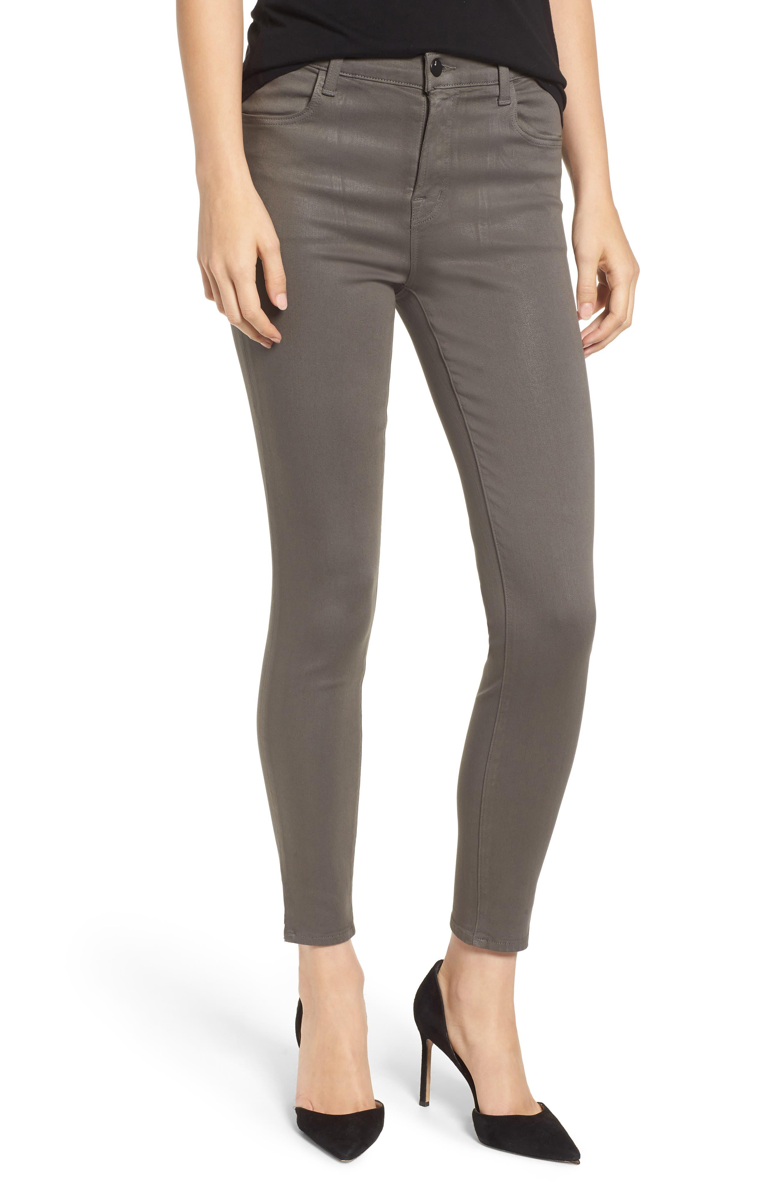 Alana High Waist Crop Skinny Jeans,                             Main thumbnail 1, color,                             COATED JUNIPER
