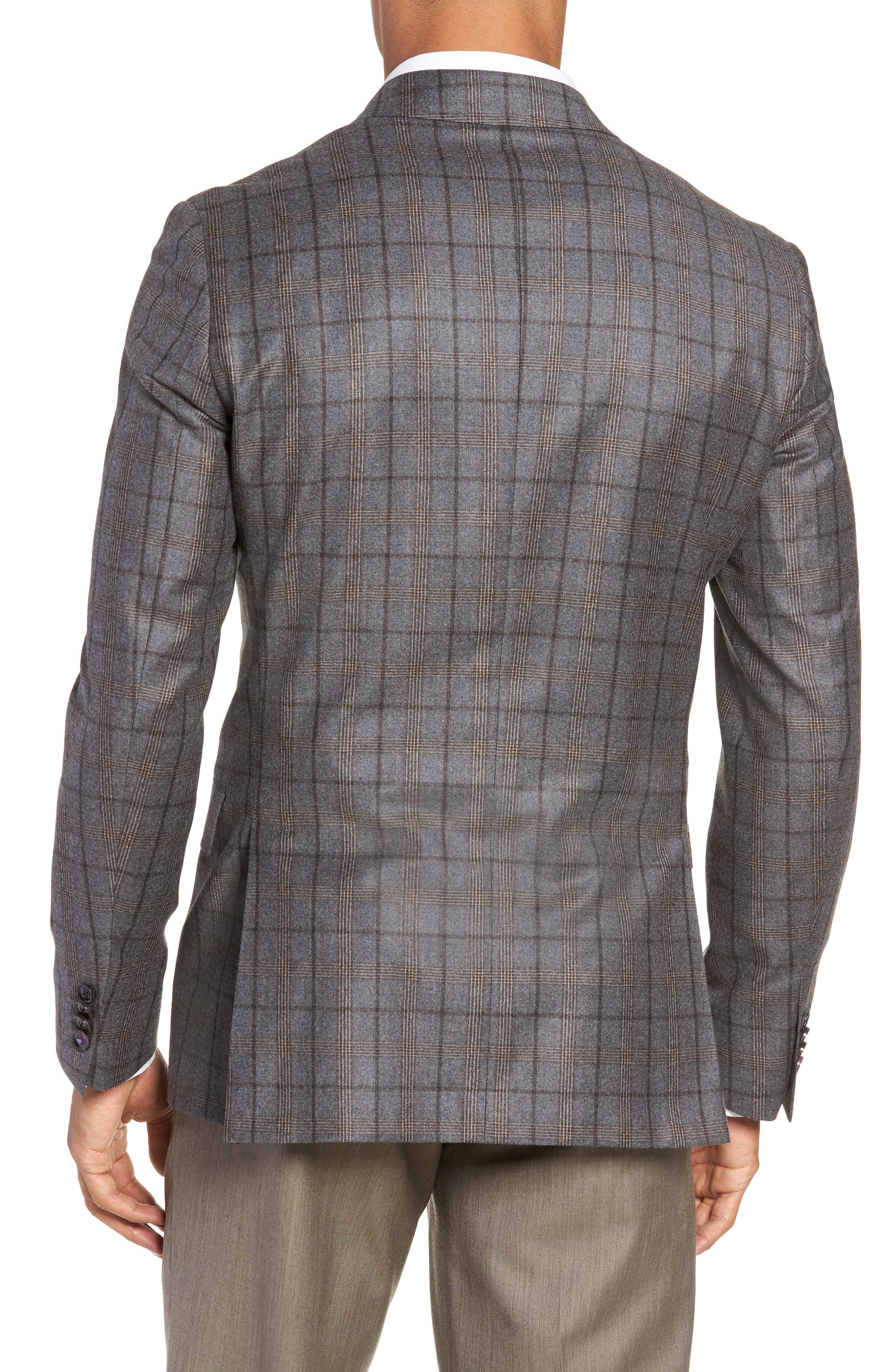 Konan 2B Trim Fit Wool Sport Coat,                             Alternate thumbnail 2, color,                             LIGHT GREY