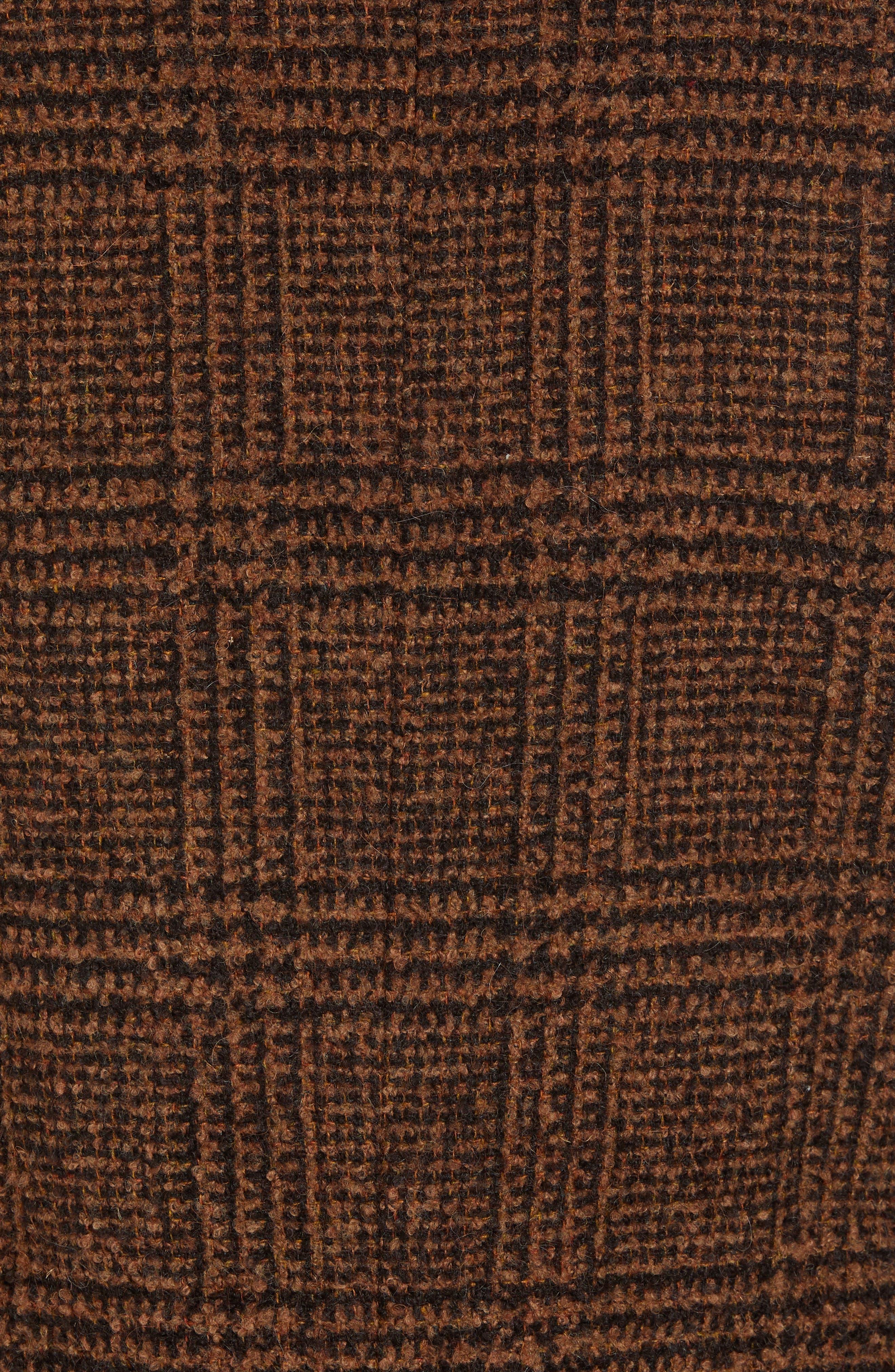 TODD SNYDER,                             Glen Plaid Bouclé Topcoat,                             Alternate thumbnail 7, color,                             200