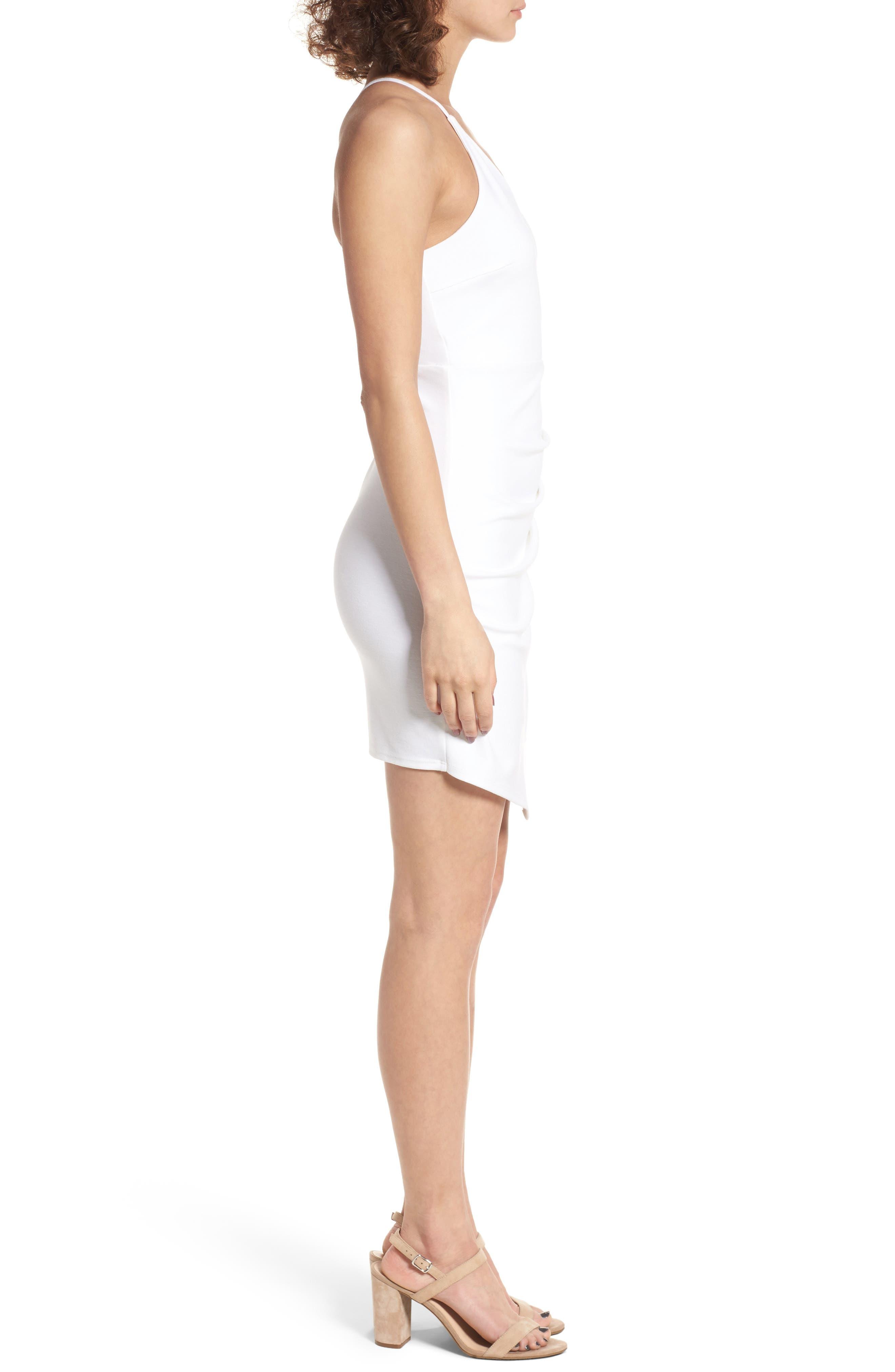 Asymmetrical Body-Con Dress,                             Alternate thumbnail 6, color,