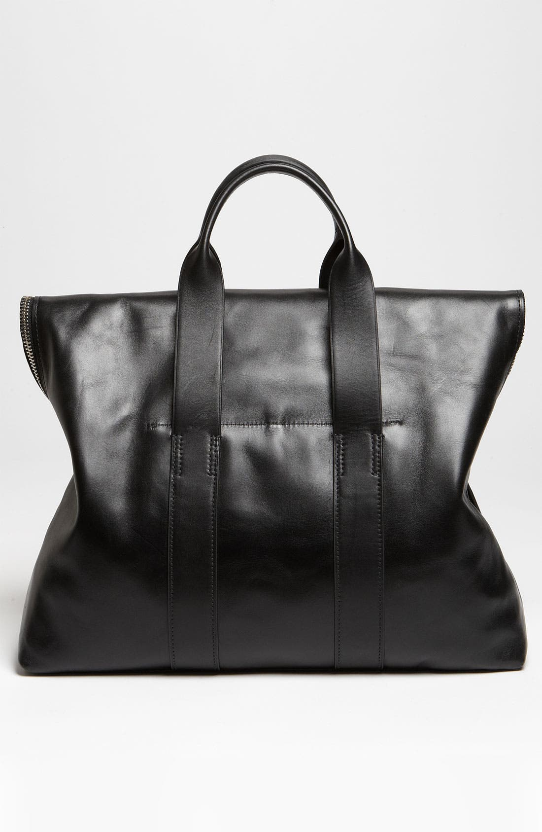 '31 Hour' Leather Tote,                             Alternate thumbnail 3, color,                             001