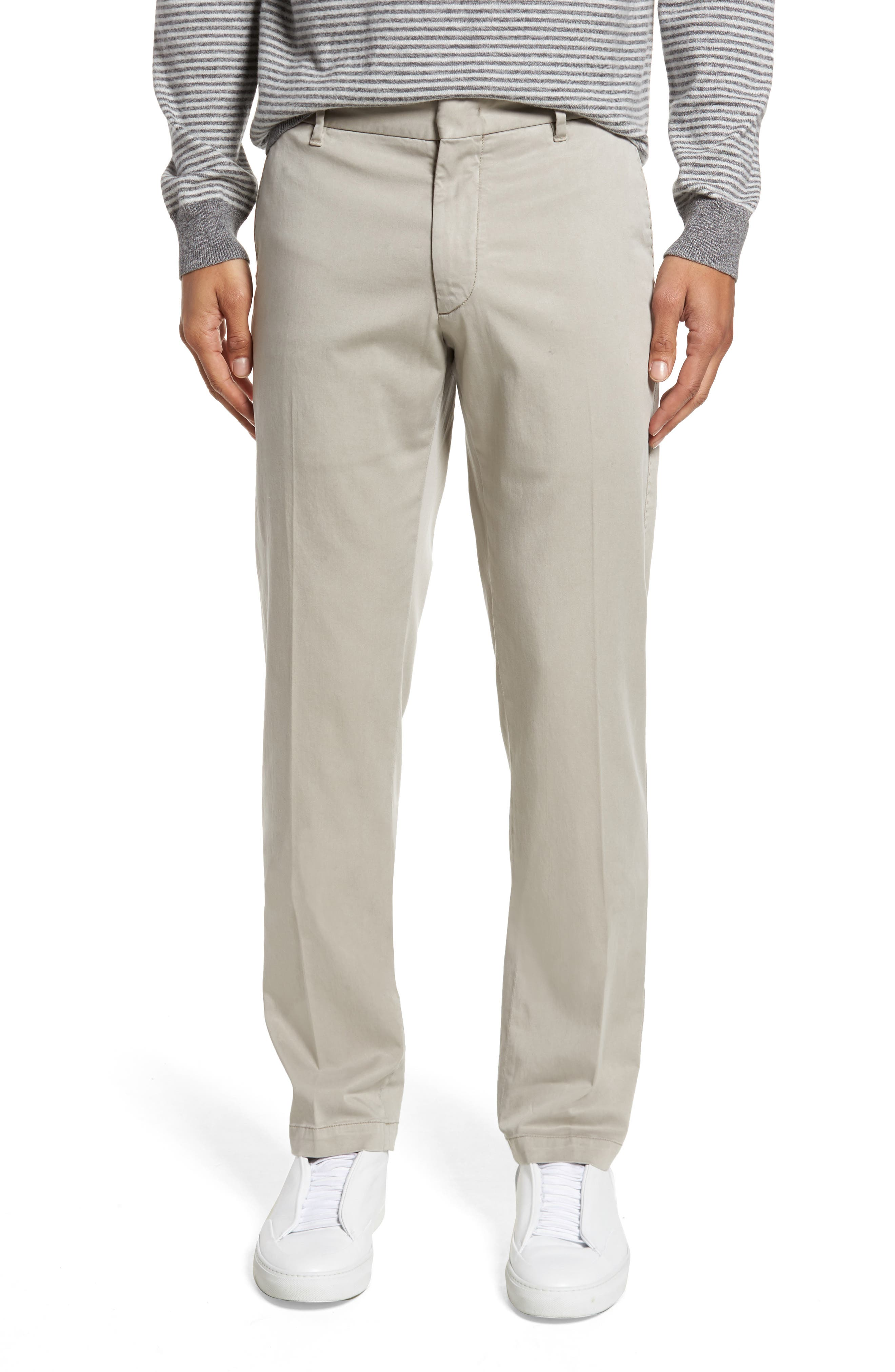 ZACHARY PRELL Aster Straight Fit Pants in Dark Stone