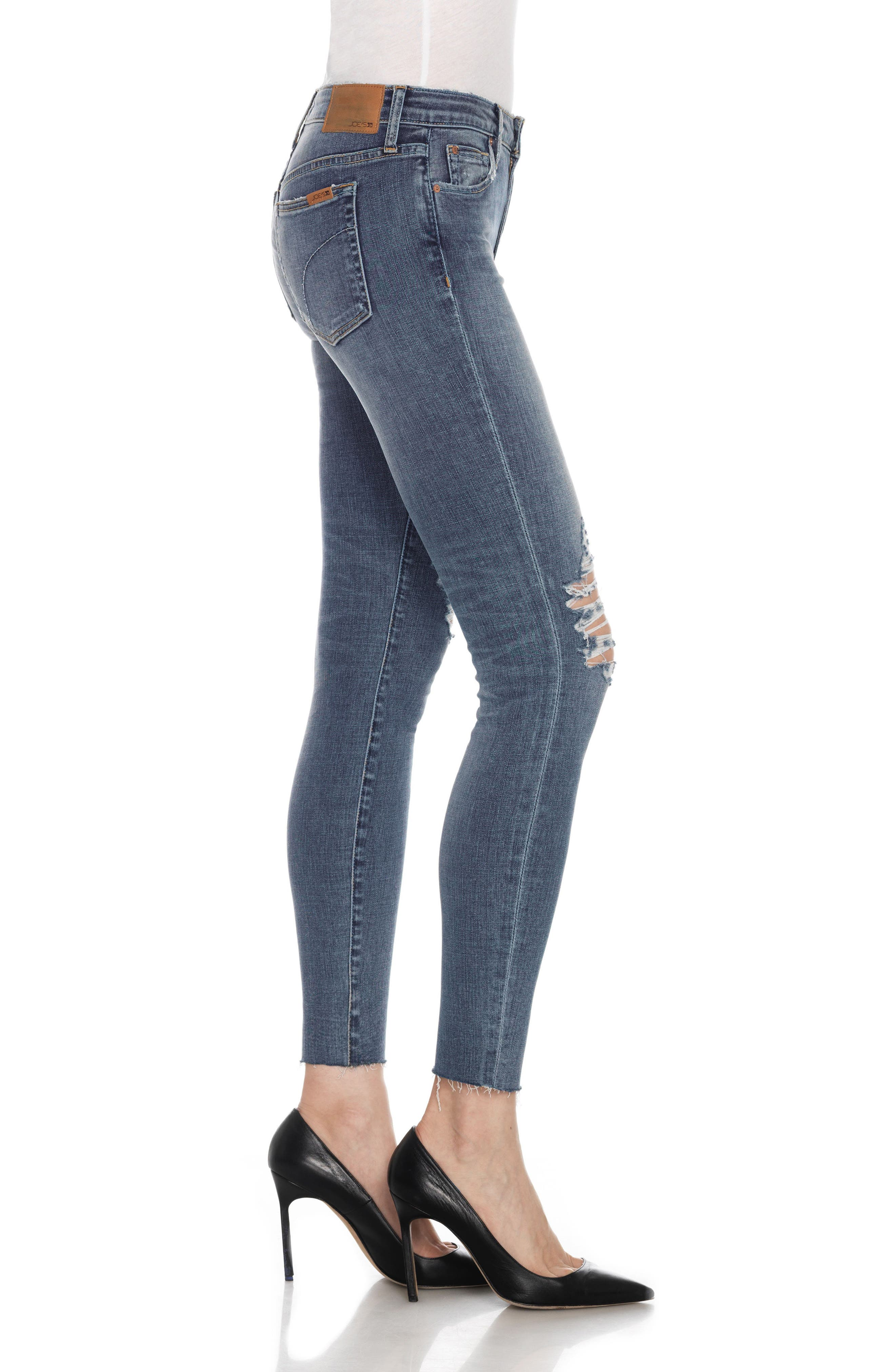 Flawless - Icon Ankle Skinny Jeans,                             Alternate thumbnail 4, color,                             401
