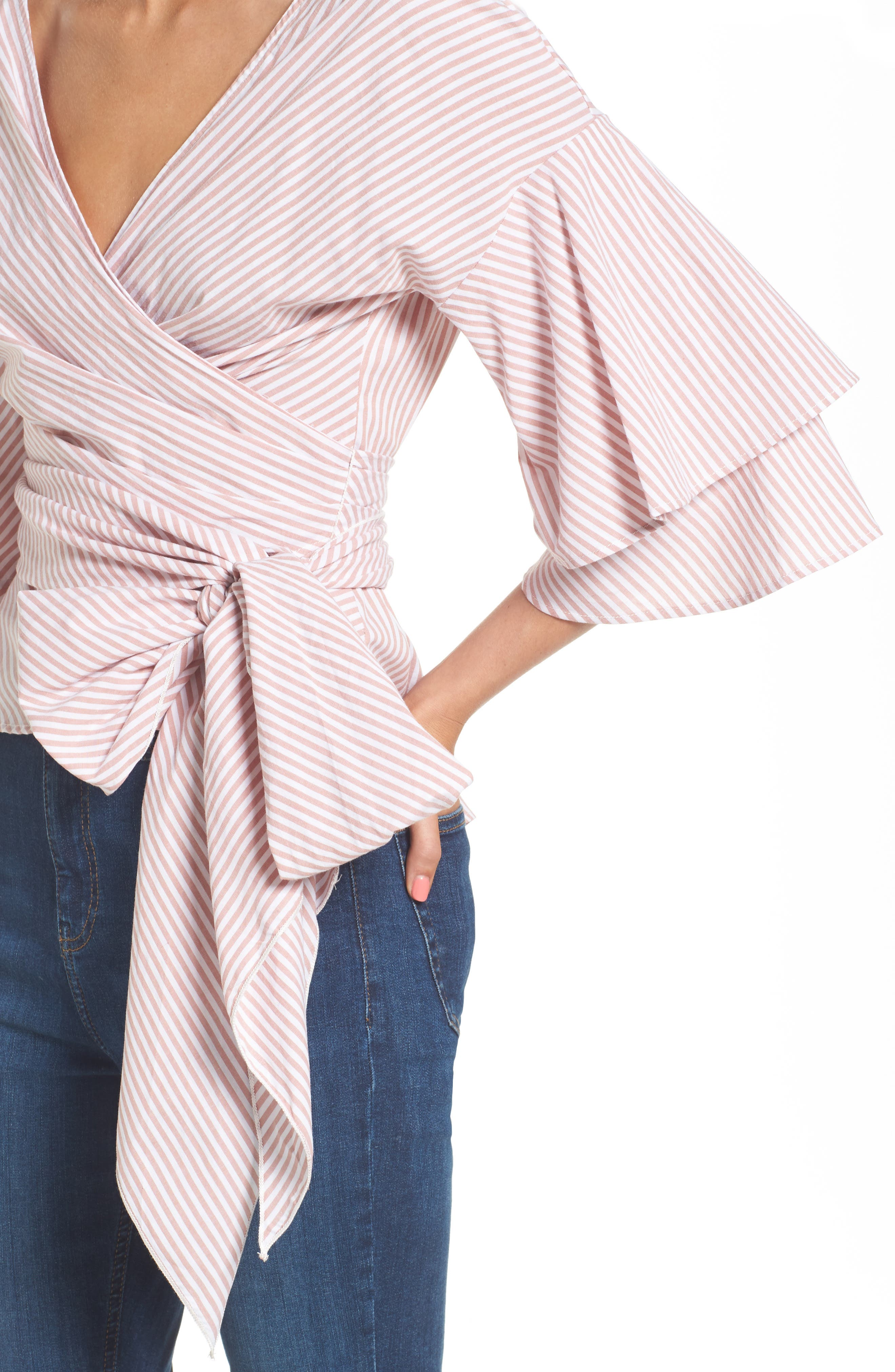 Beckett Tiered Bell Sleeve Top,                             Alternate thumbnail 27, color,