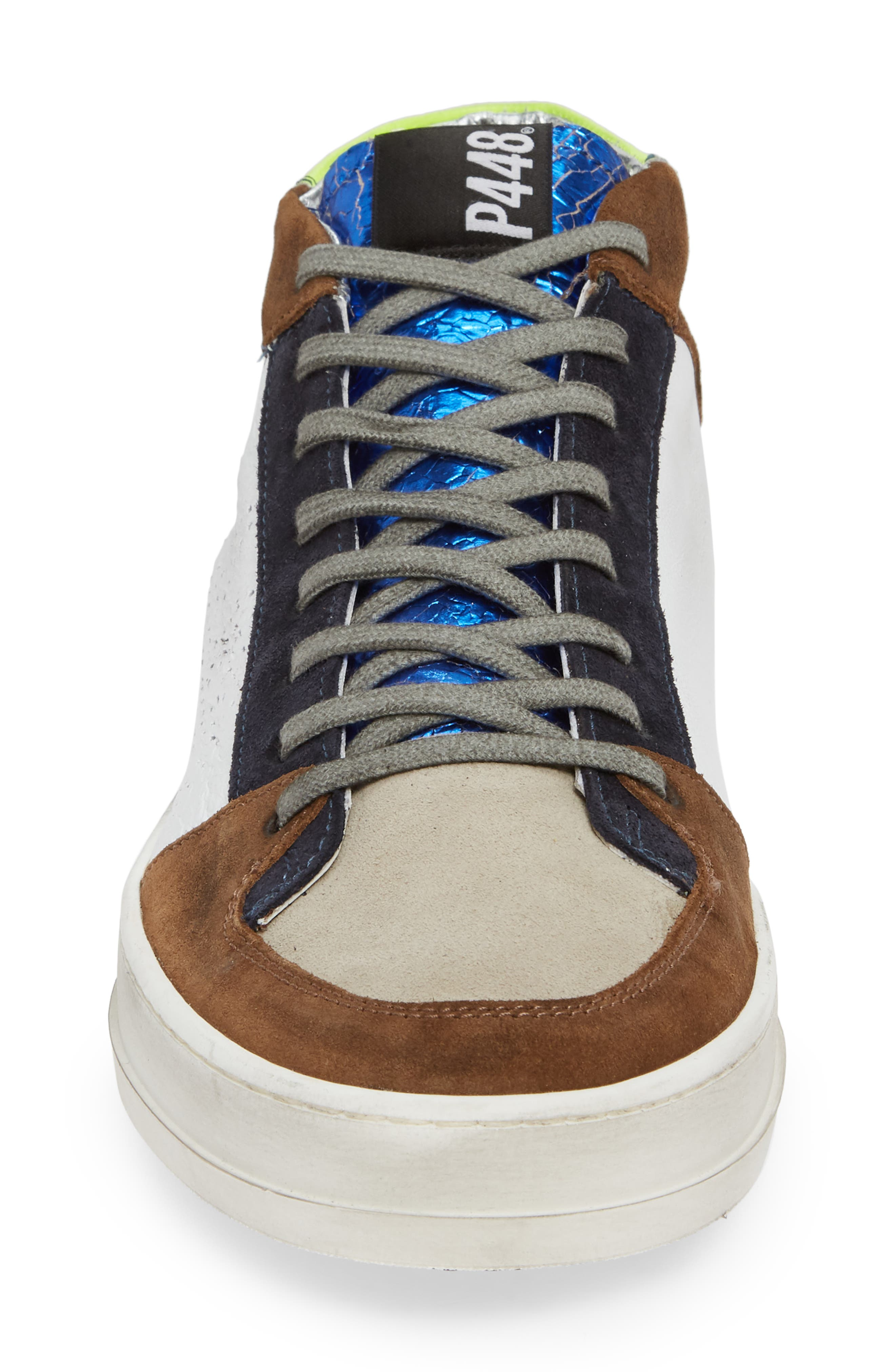 A8Queens Mid Top Sneaker,                             Alternate thumbnail 4, color,                             YELLOW