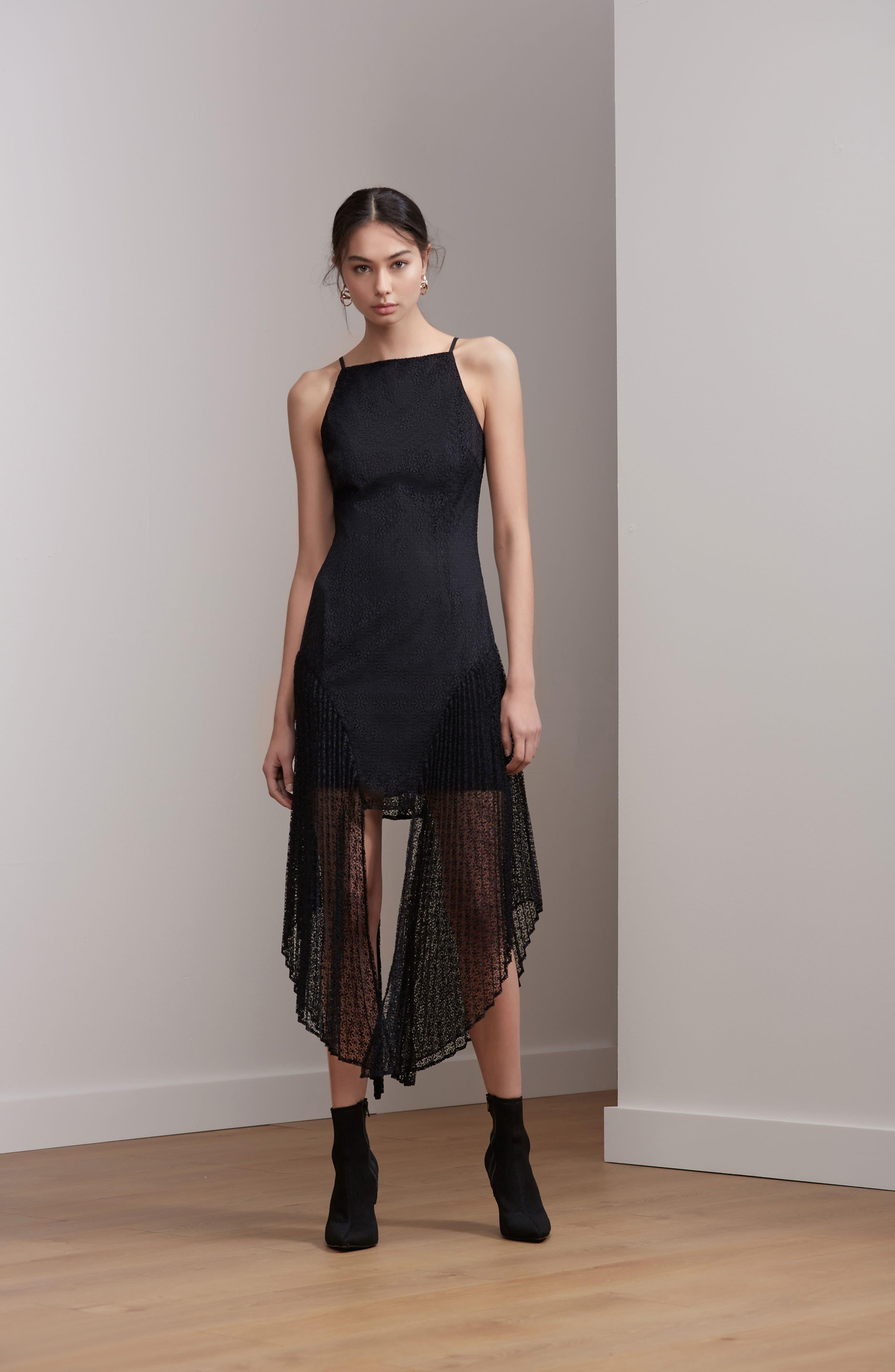 Ignite Lace Midi Dress,                             Alternate thumbnail 6, color,                             001