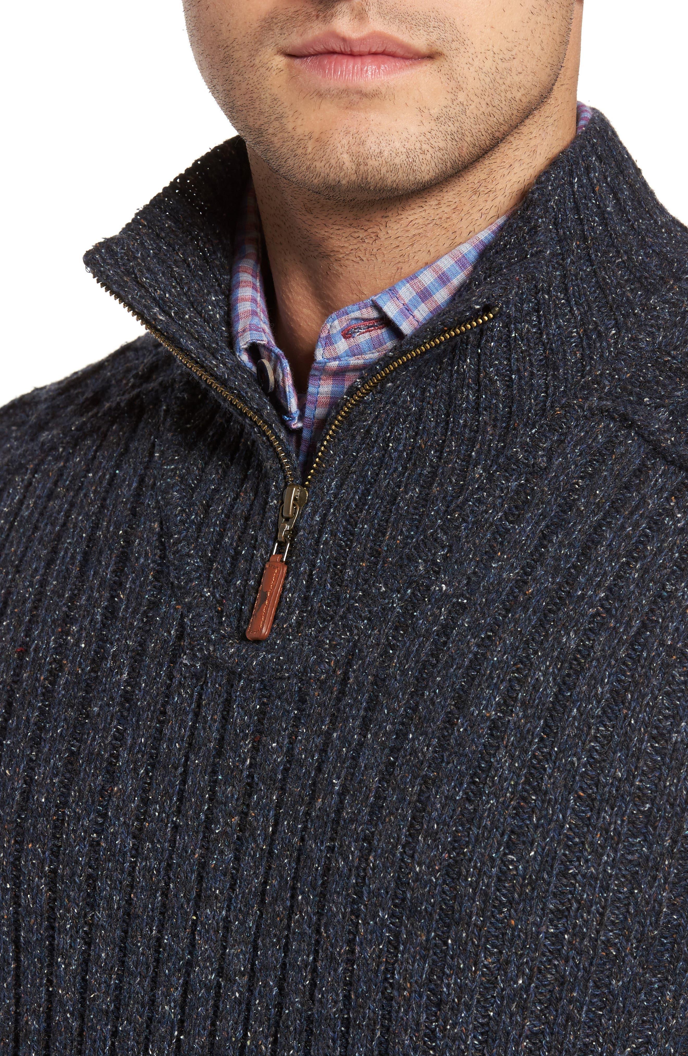 Hamada Quarter Zip Sweater,                             Alternate thumbnail 4, color,                             401