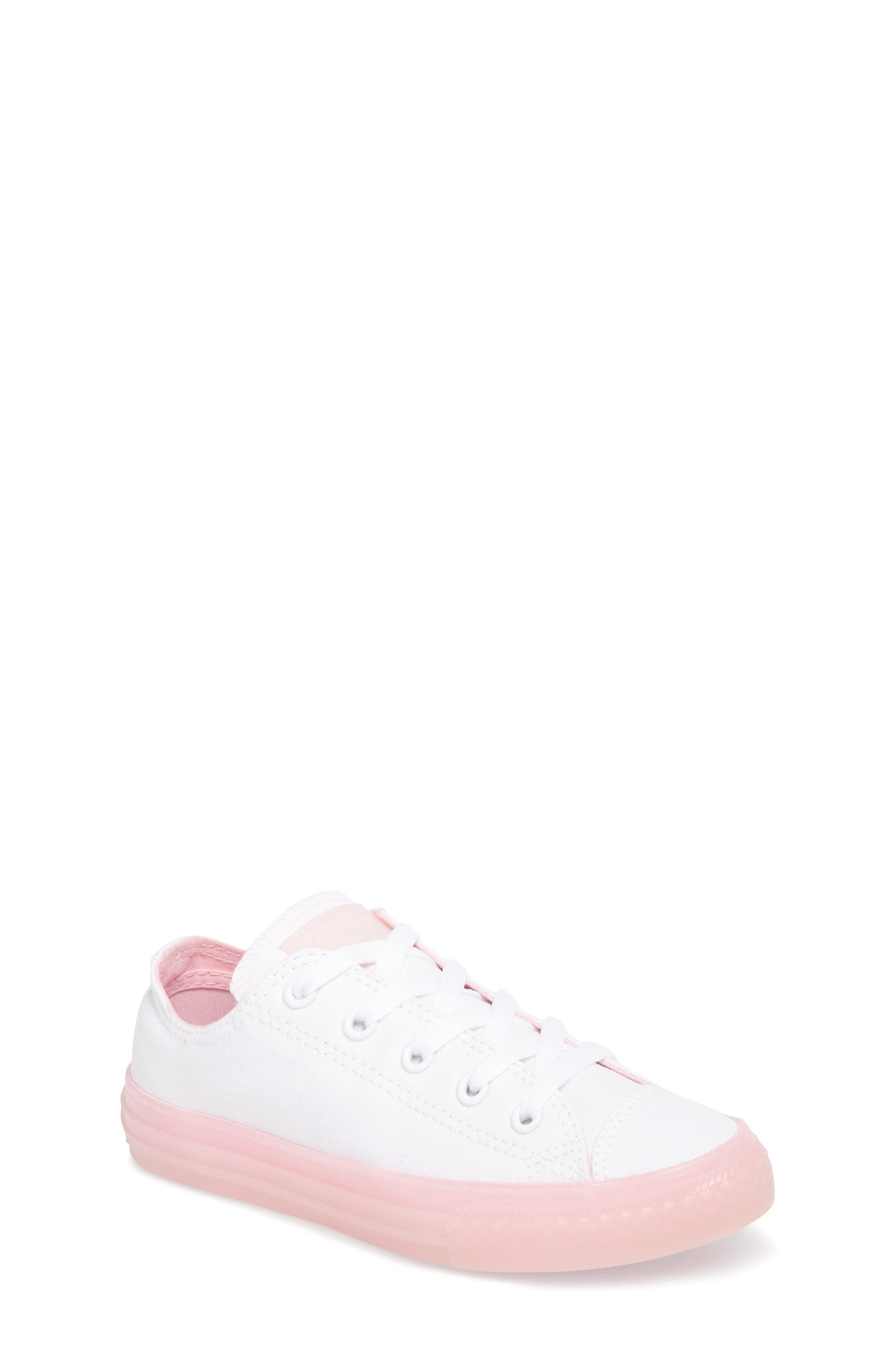 Chuck Taylor<sup>®</sup> All Star<sup>®</sup> Jelly Low Top Sneaker,                             Main thumbnail 1, color,                             WHITE/ CHERRY