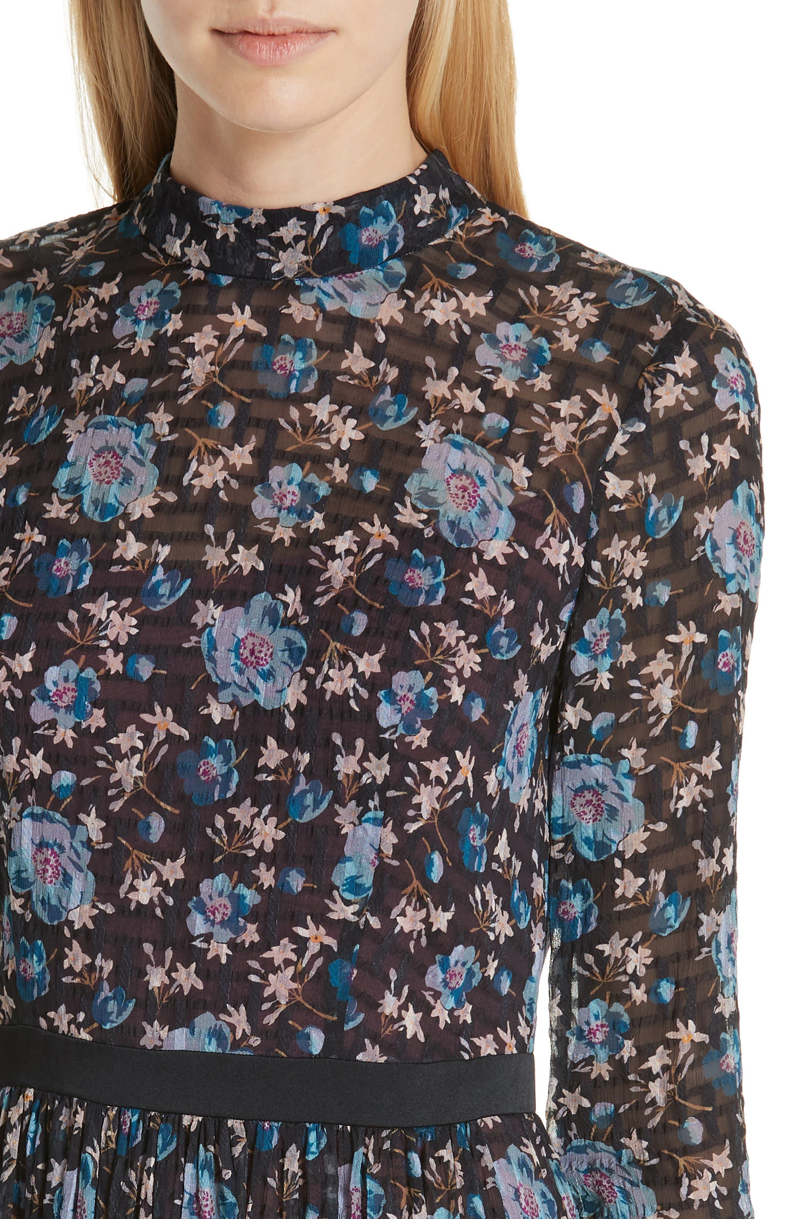 Solstice Silk Blend Dress,                             Alternate thumbnail 4, color,                             014