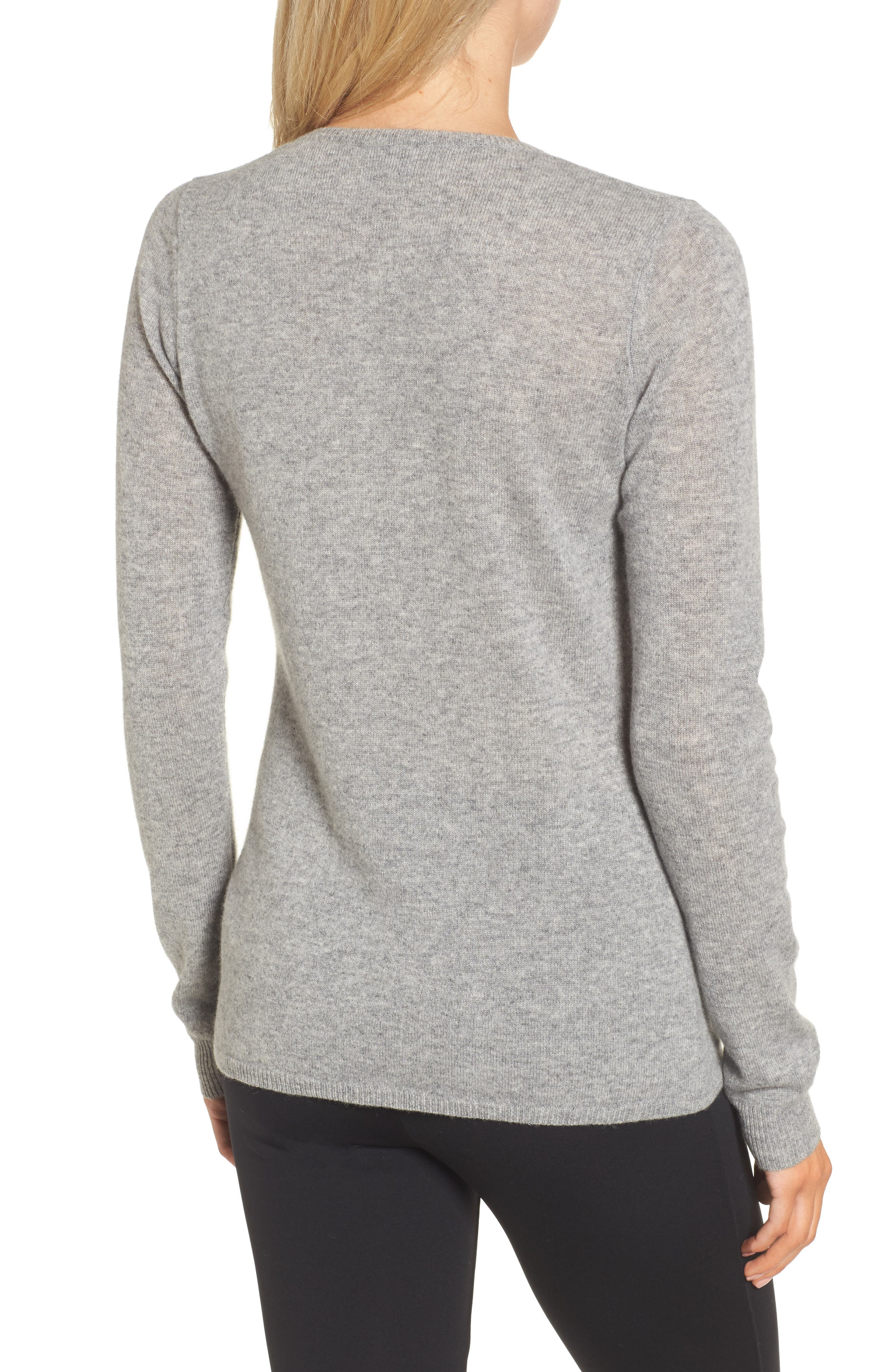 Cashmere V-Neck Sweater,                             Alternate thumbnail 2, color,                             086