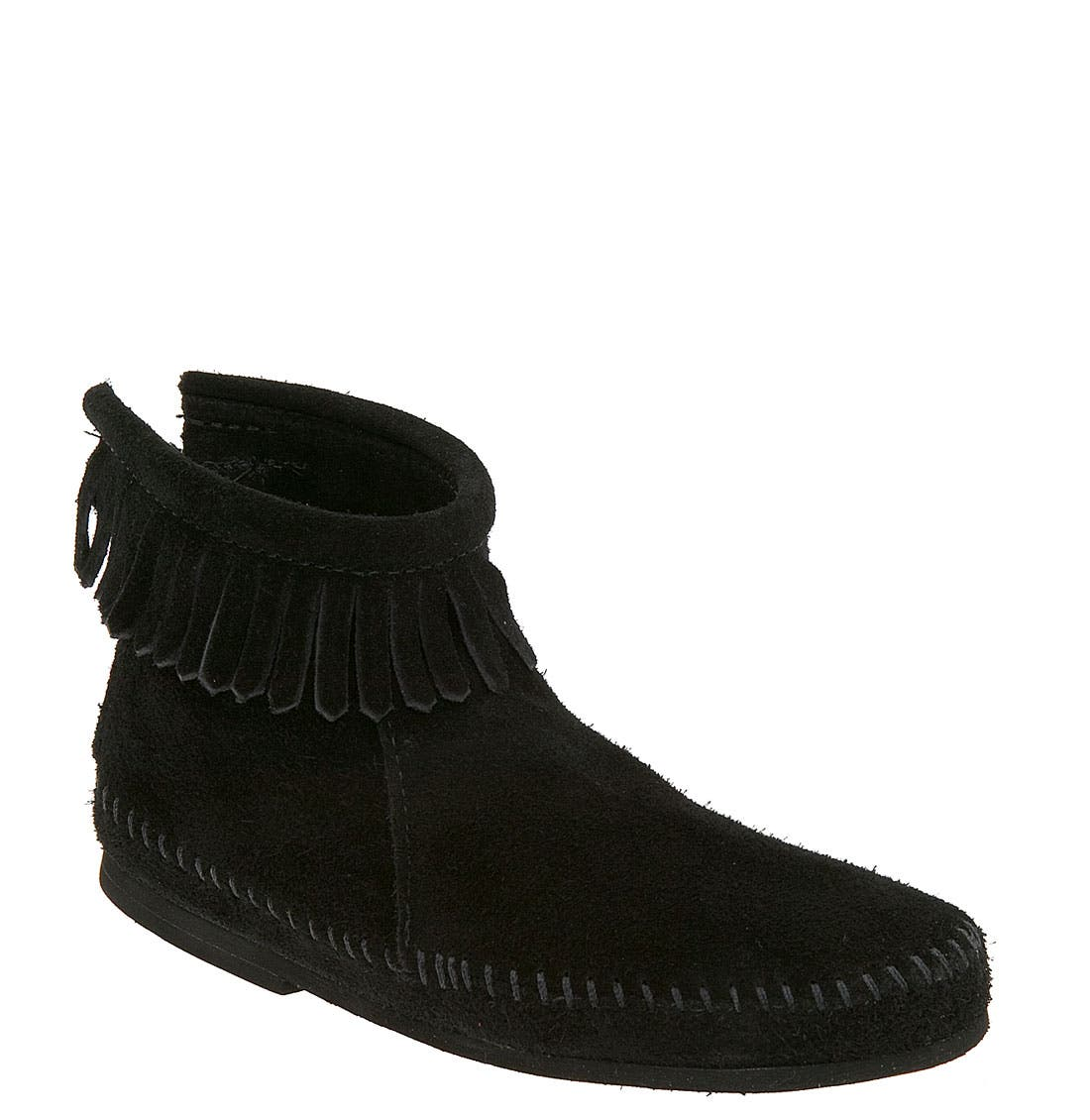 Back Zip Boot,                         Main,                         color, 001