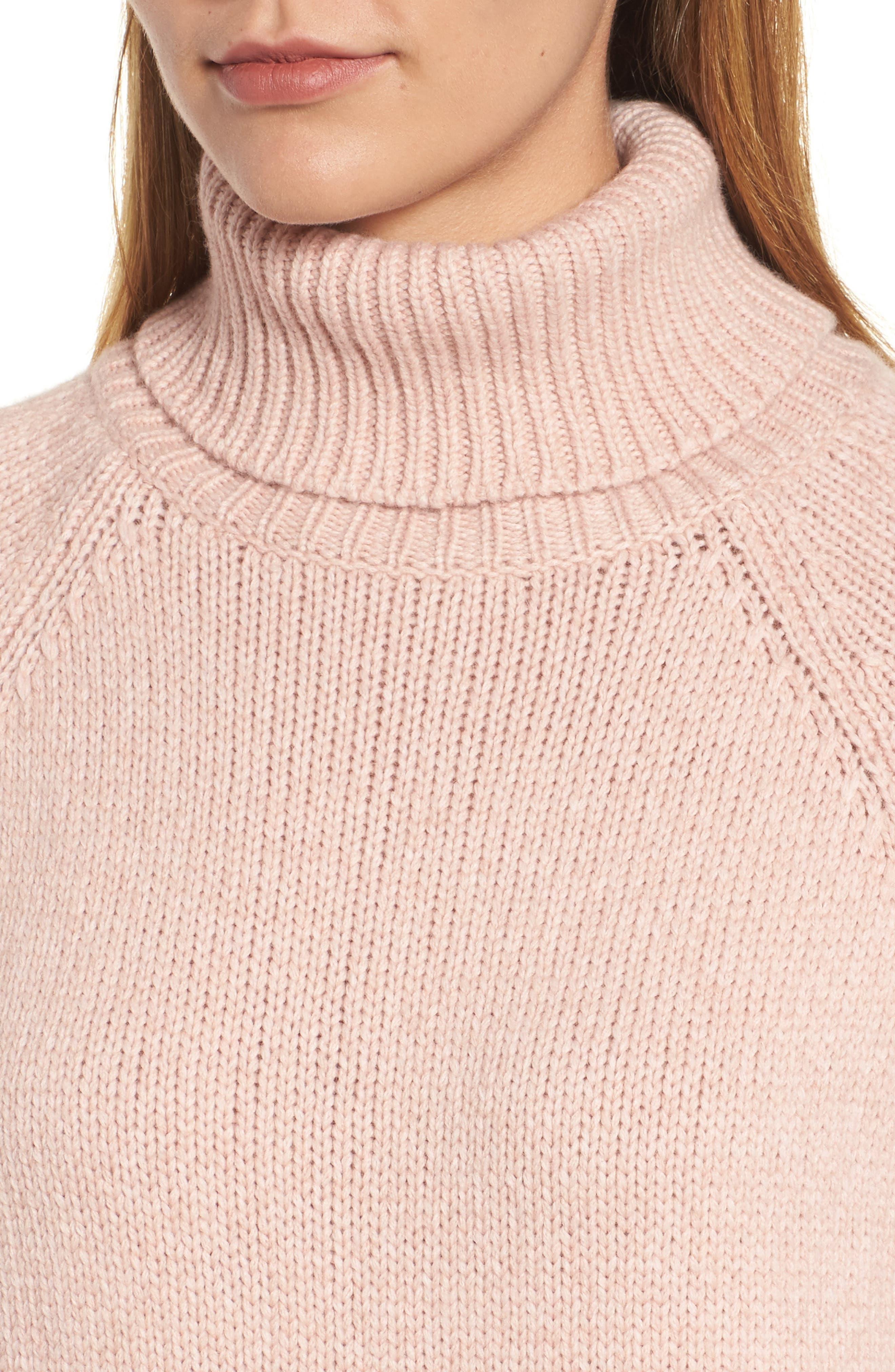Textured Turtleneck Sweater,                             Alternate thumbnail 8, color,