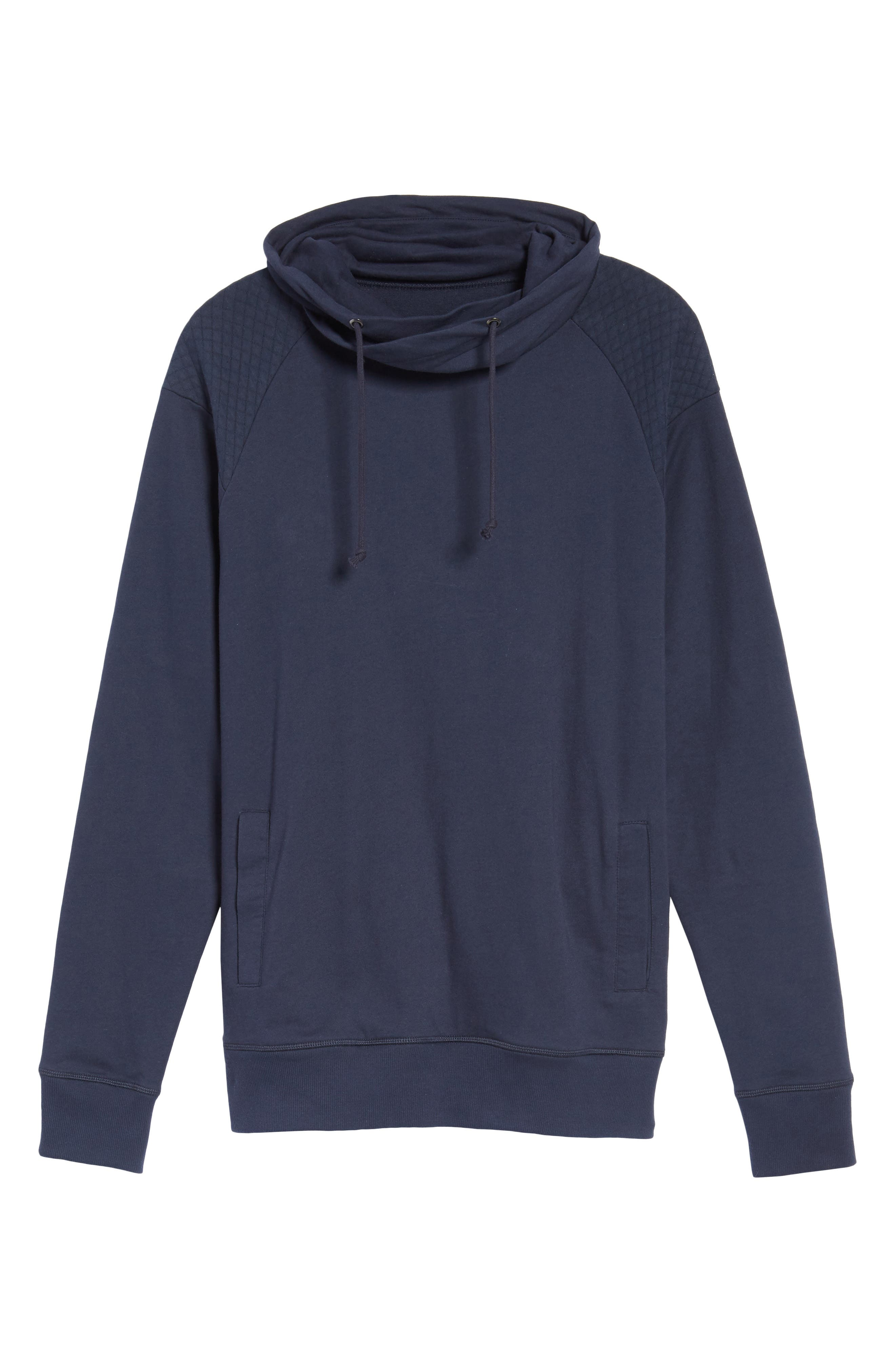 Quilted Funnel Neck Pullover,                             Alternate thumbnail 12, color,