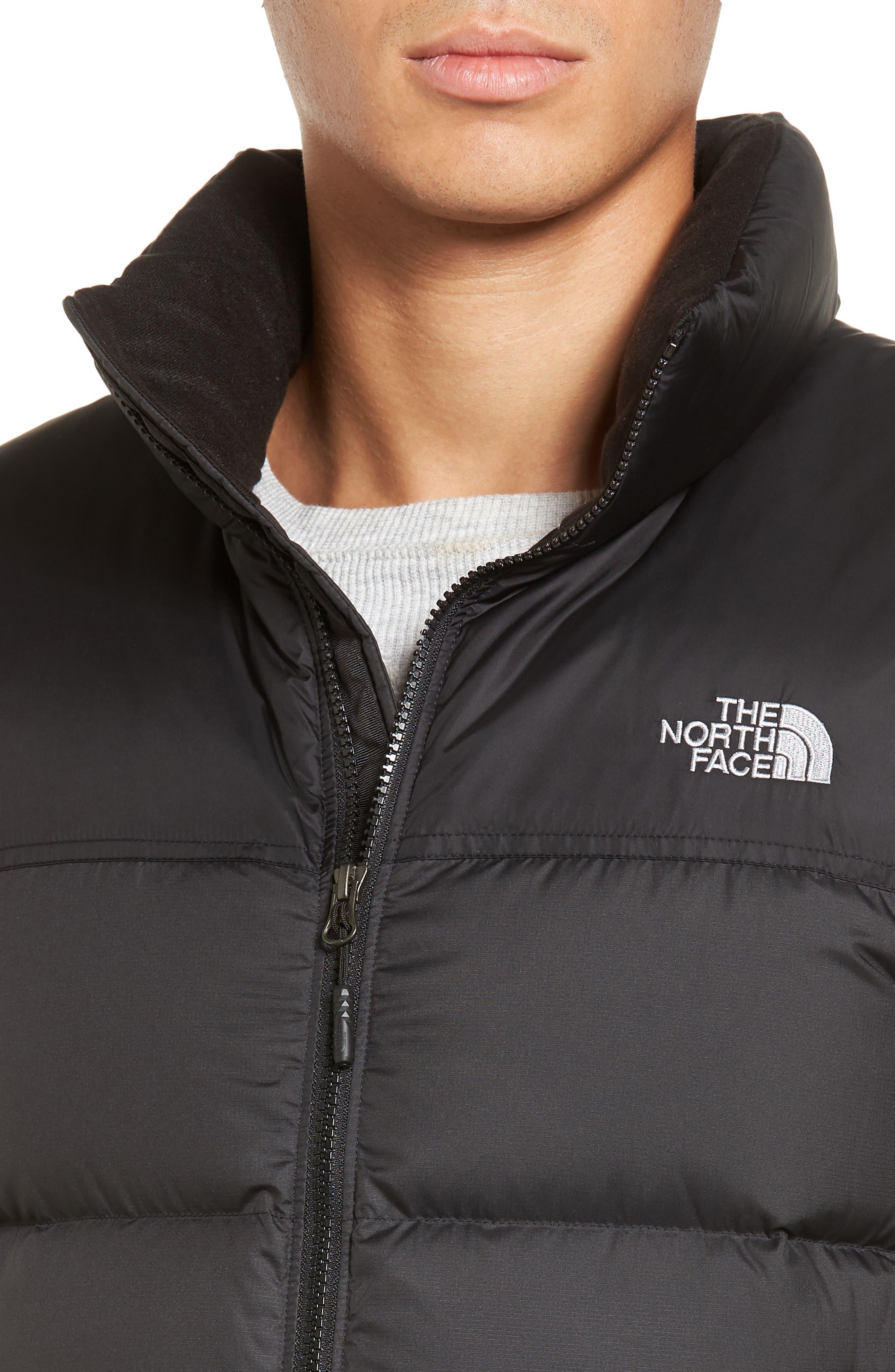 Nuptse Water Repellent Down Vest,                             Alternate thumbnail 4, color,                             001
