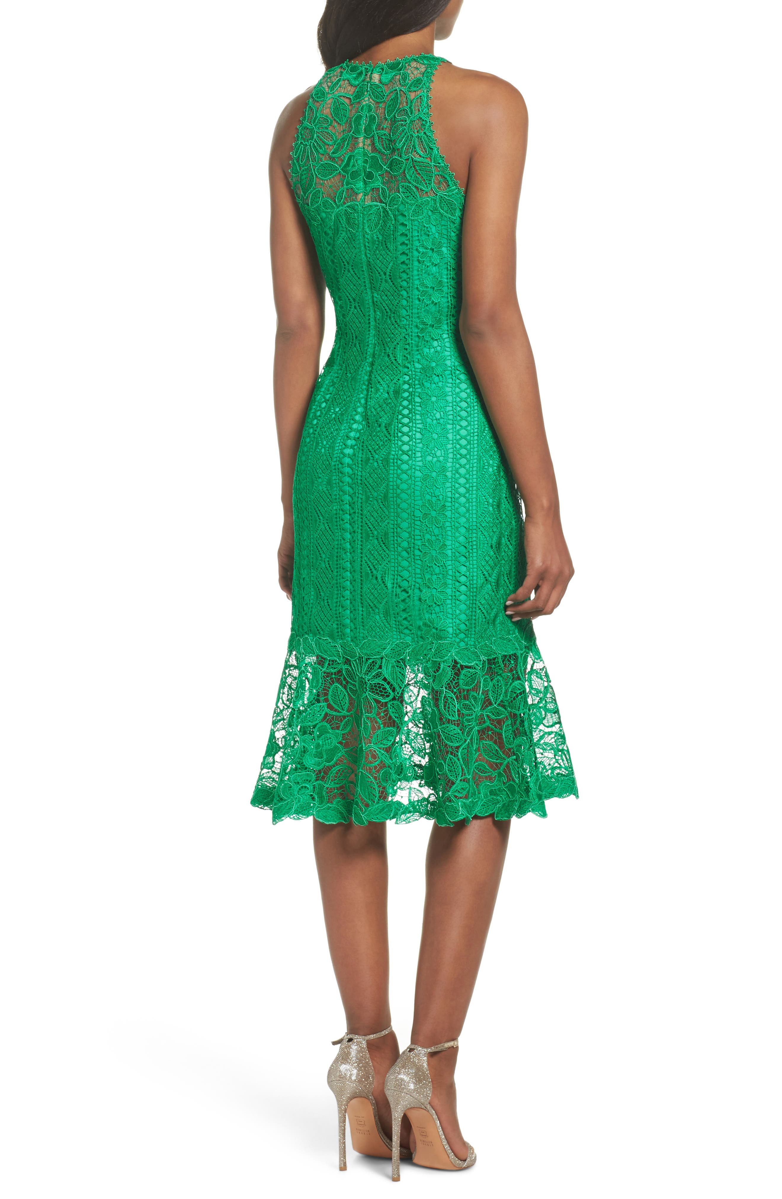 Lace Shift Dress,                             Alternate thumbnail 2, color,                             346