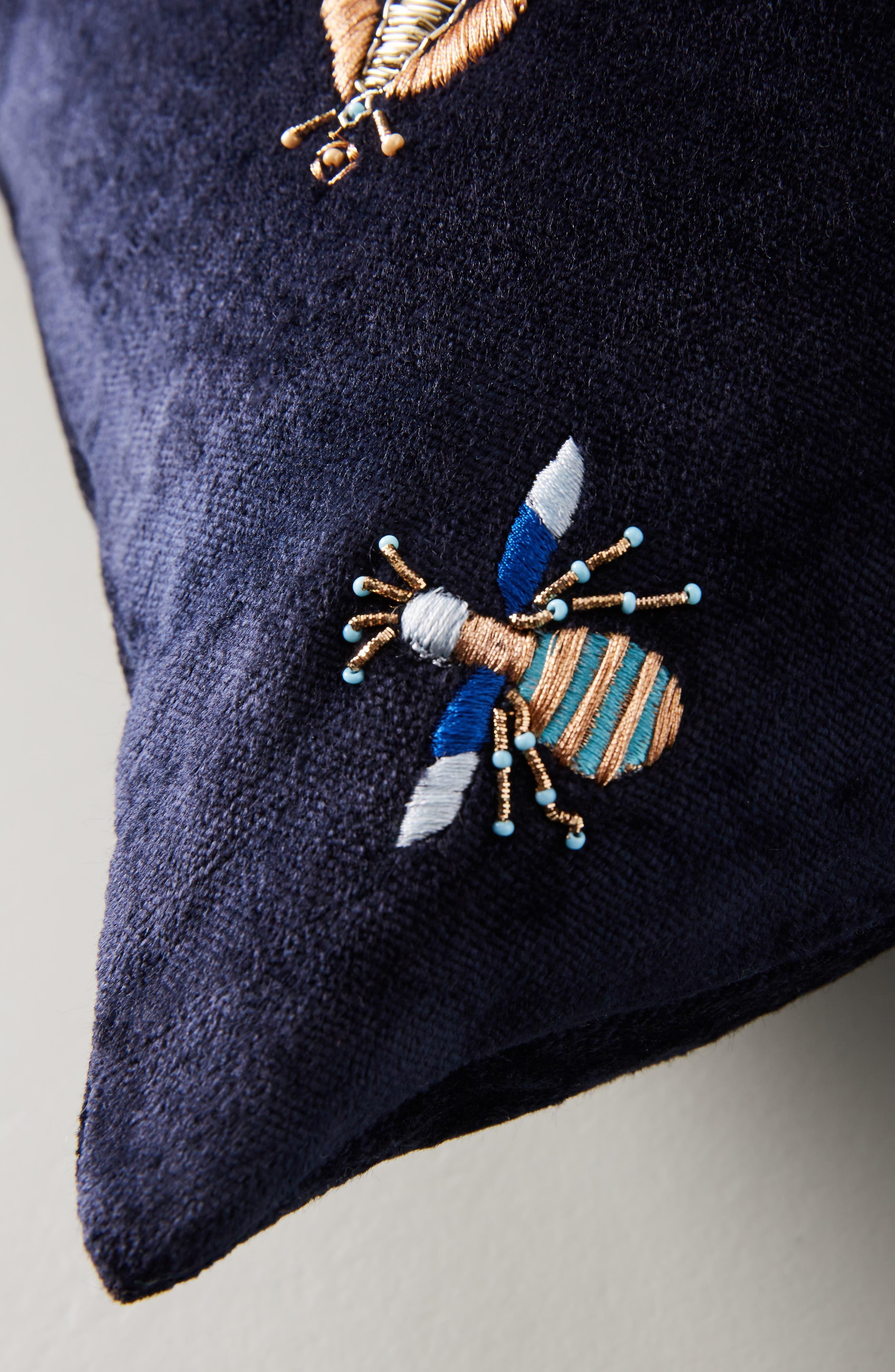 Wyatt Velvet Accent Pillow,                             Alternate thumbnail 3, color,                             400