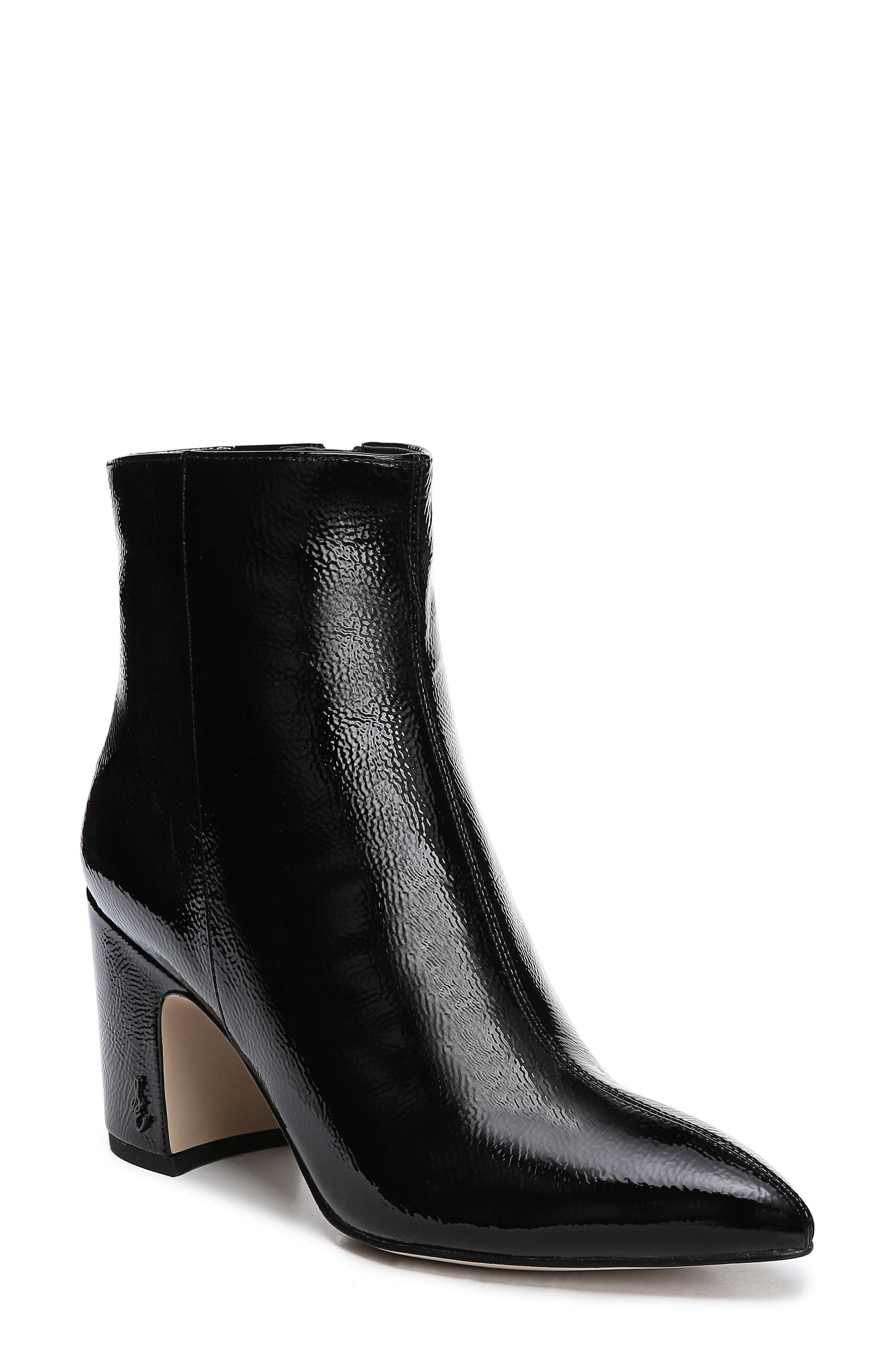 Sam Edelman Hilty Genuine Calf Hair Bootie- Black