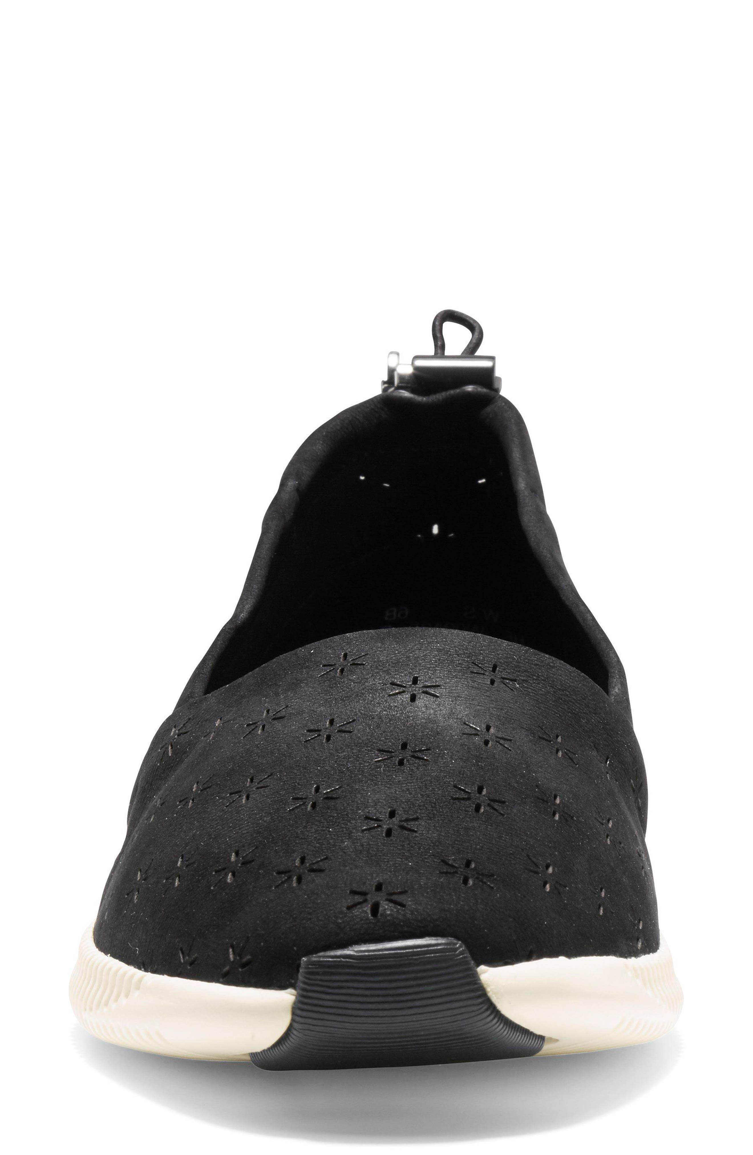 Studiogrand Perforated Slip-on,                             Alternate thumbnail 4, color,                             001