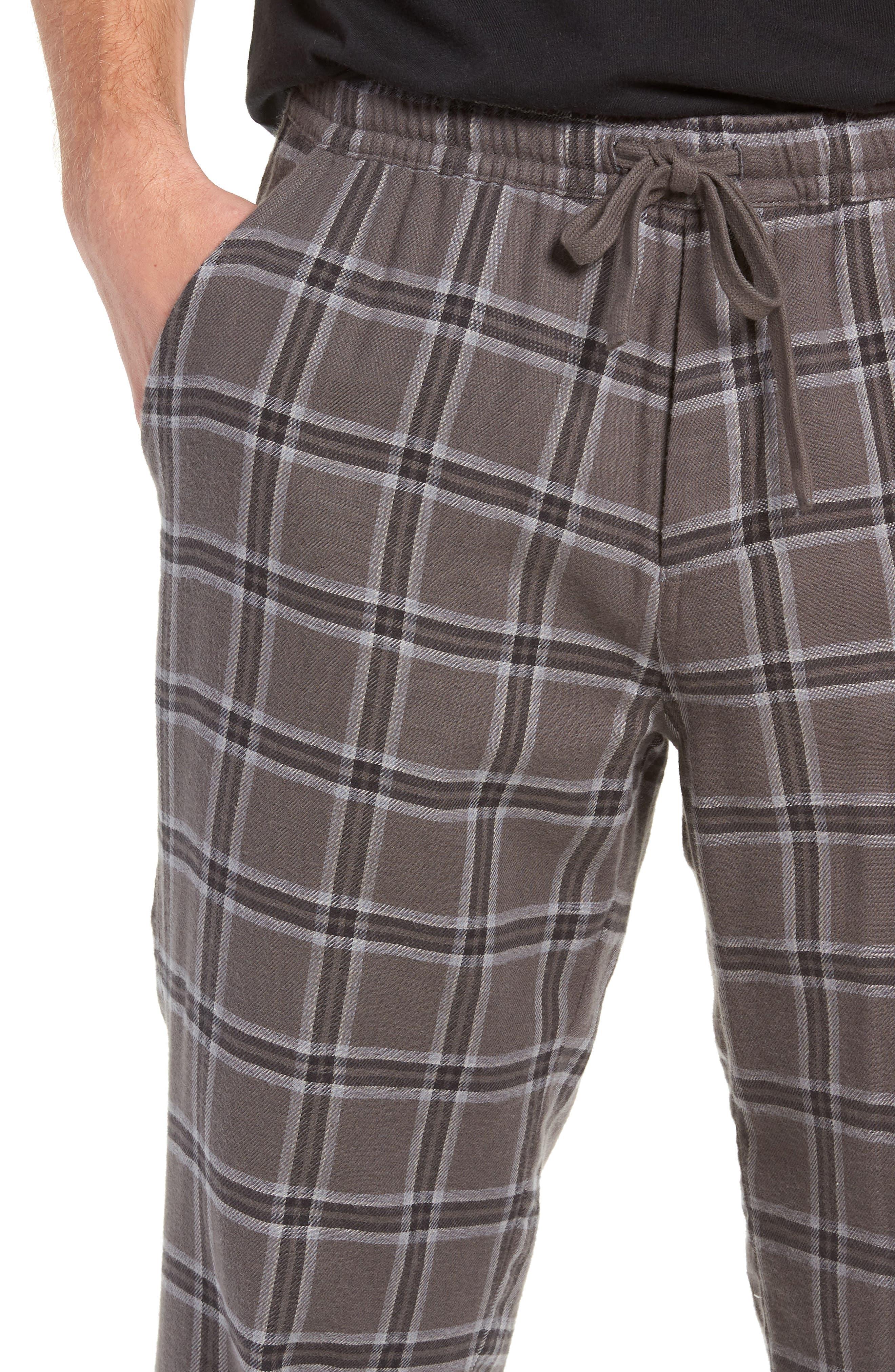 Grant Pajama Set,                             Alternate thumbnail 4, color,                             CHARCOAL/ BLACK