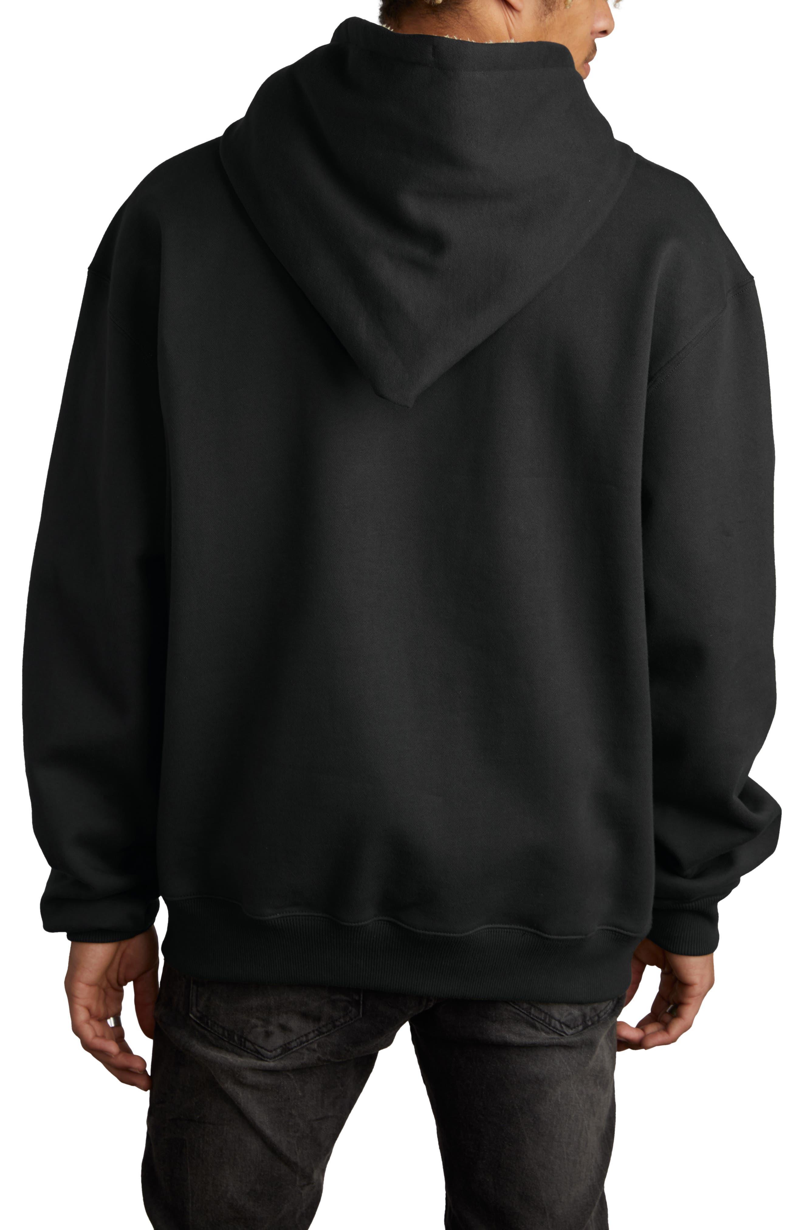 Fleece Lined Hoodie,                             Alternate thumbnail 2, color,                             BLACK