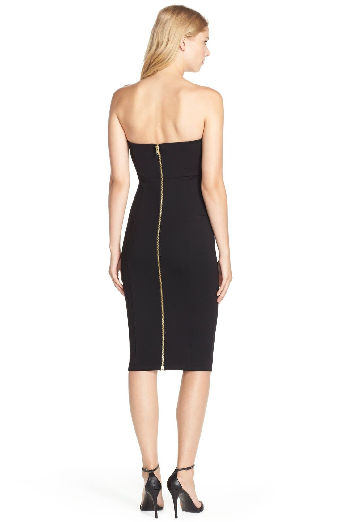 Brianna Strapless Knit Body-Con Dress,                             Alternate thumbnail 10, color,