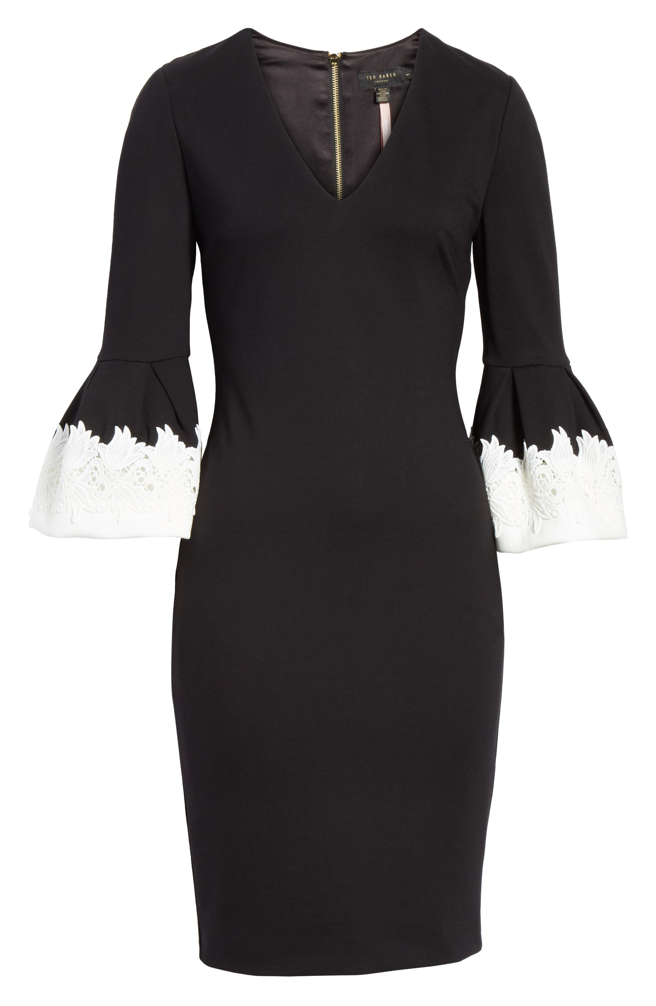 Rastrel Sheath Dress,                             Alternate thumbnail 6, color,                             001